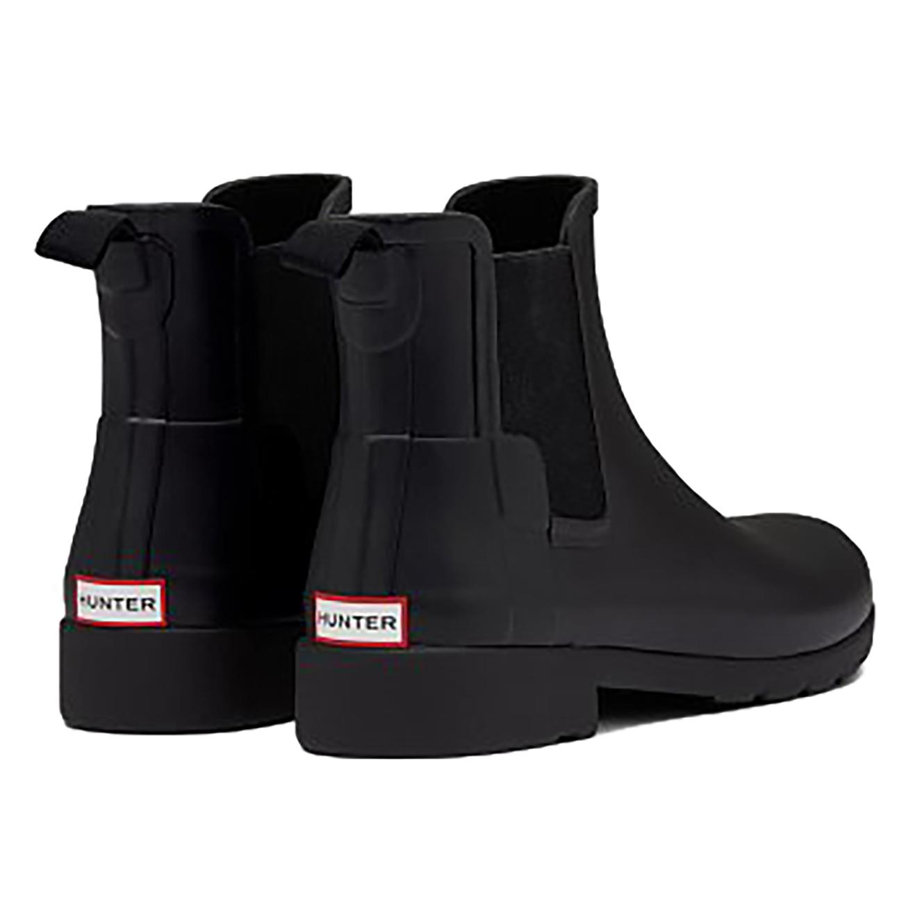 086e93990 Womens Hunter Original Chelsea Refined Waterproof Rubber Rain Ankle ...