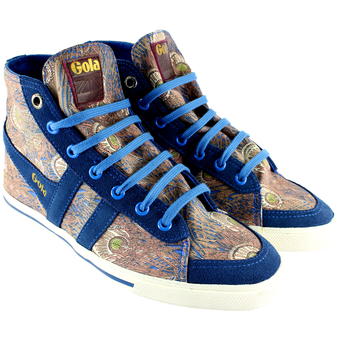 Gola Quota High Top Peacock Trainers