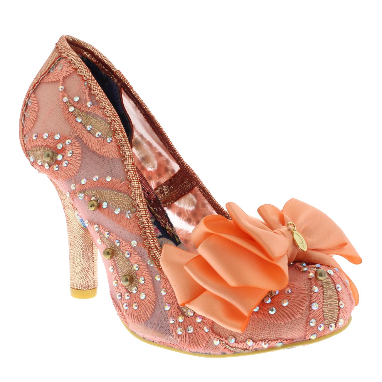 Damenschuhe Irregular Choice Ascot Metallic High Heel Glitter Court Schuhes 3.5-8 UK 3.5-8 Schuhes 98eacd