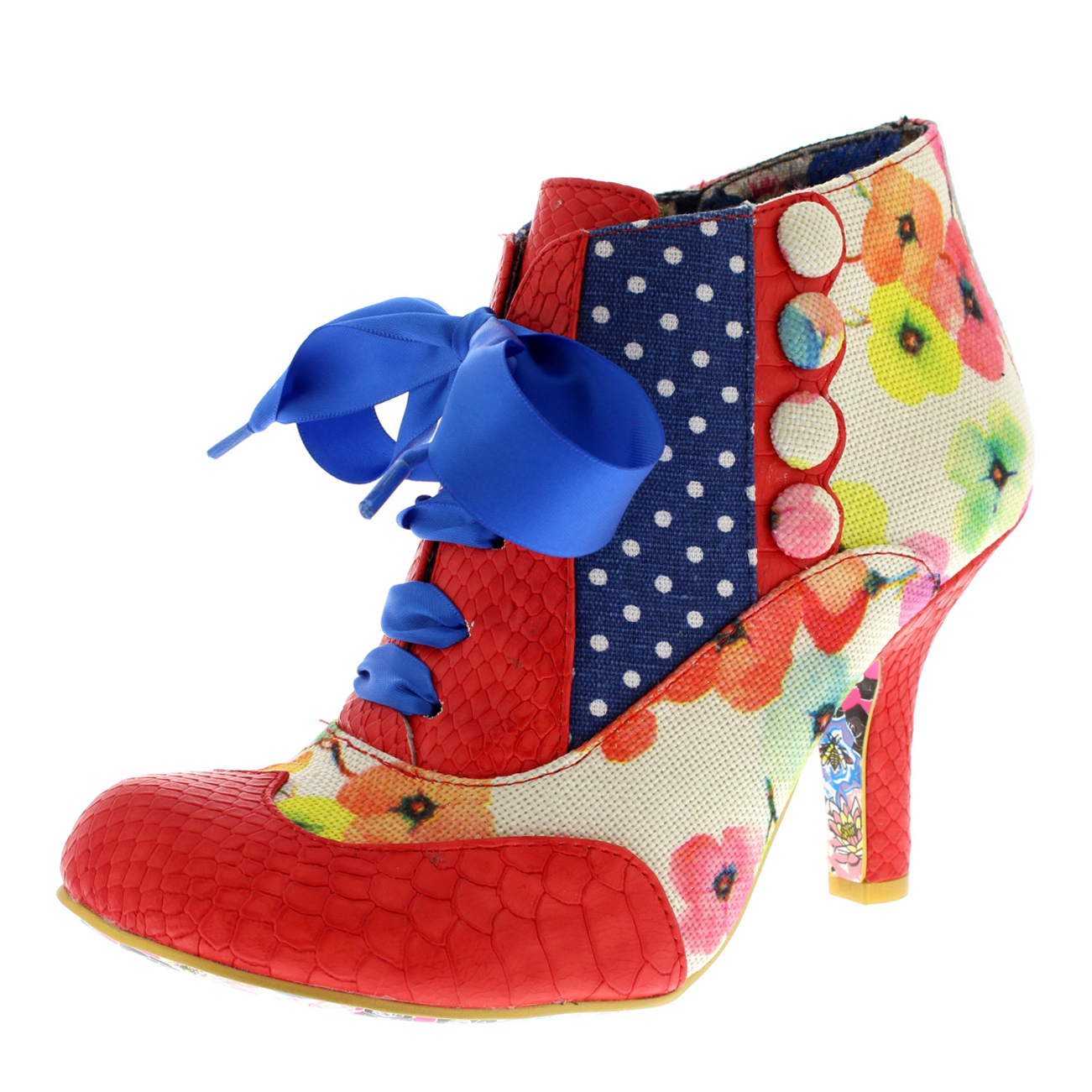 Damenschuhe Irregular Choice Blair Elfglow Mid Heels Floral Court Schuhes UK 3.5-8.5