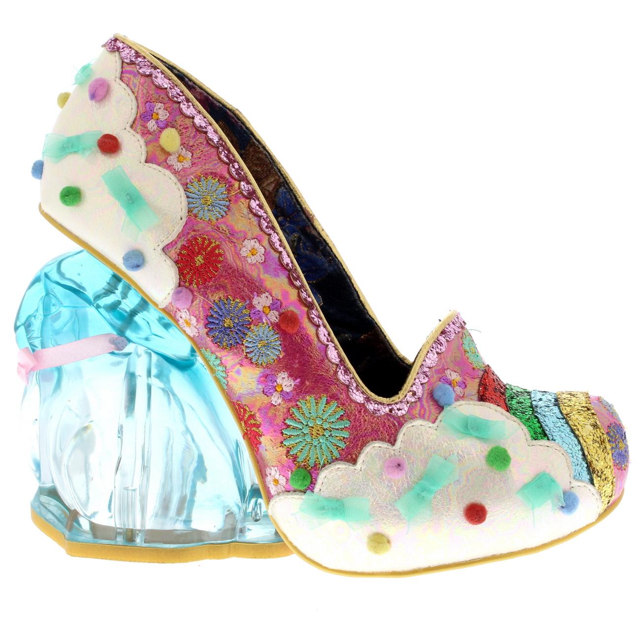 Womens Irregular Choice Rain Bunny Rainbow Rabbit Heels