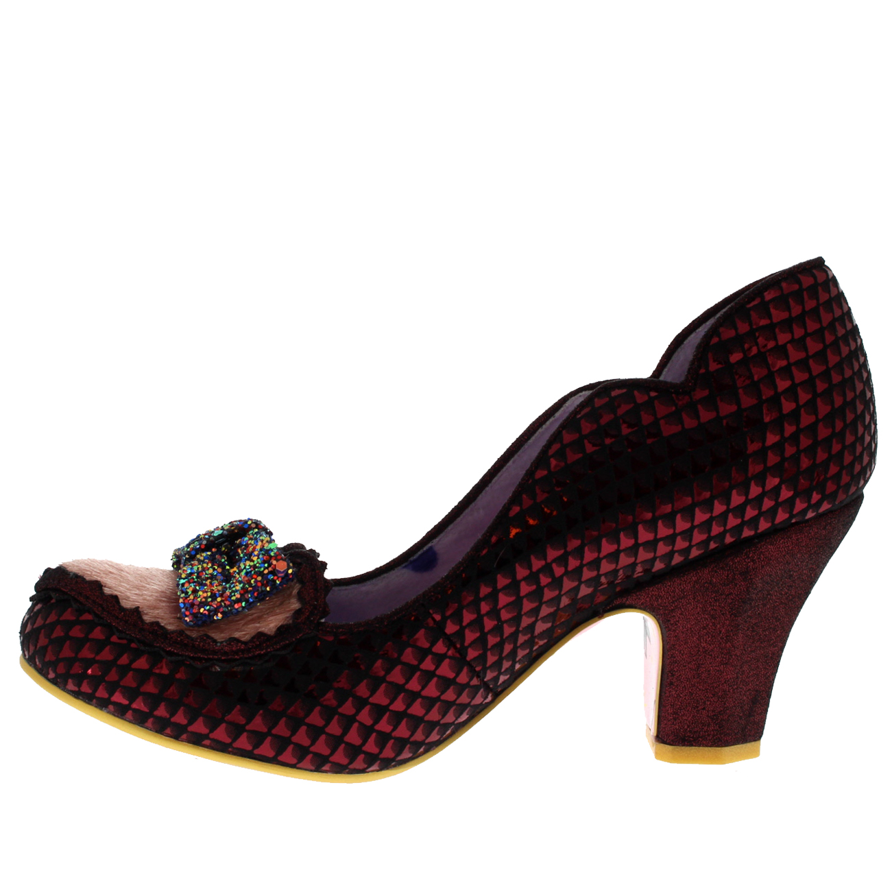 Damenschuhe Irregular Choice Miss Issippi Mid Heel Shiny Party Court Schuhes UK 3.5-8.5