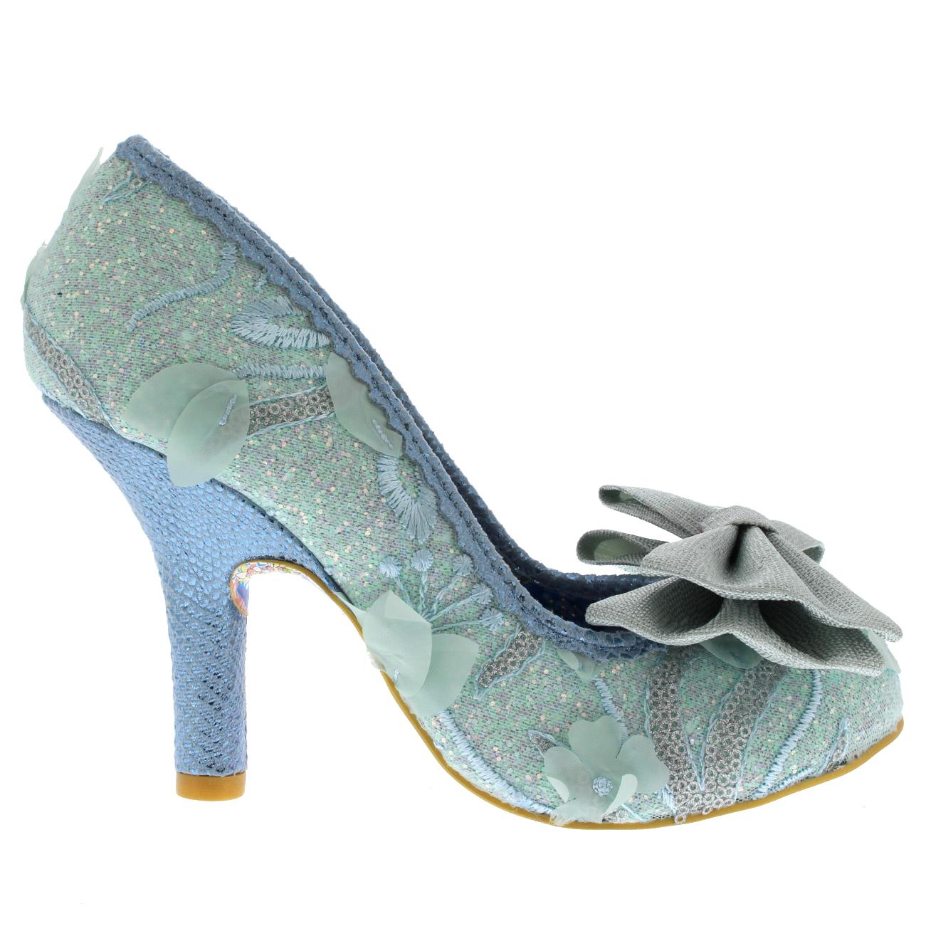 Irregular Choice Mal E Schuhes Bow Damens Miscellaneous Blau Court Schuhes E ... 84f130