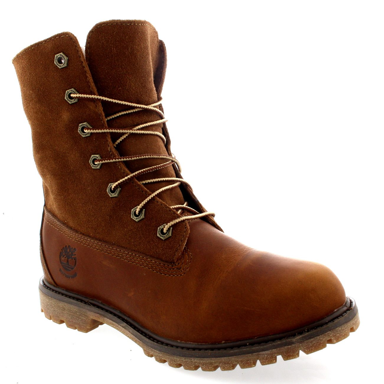 official photos 940eb 7dbcd Womens Timberland Authentic Teddy Fleece Lace Up Snow Leather Winter Boot  UK 3-9