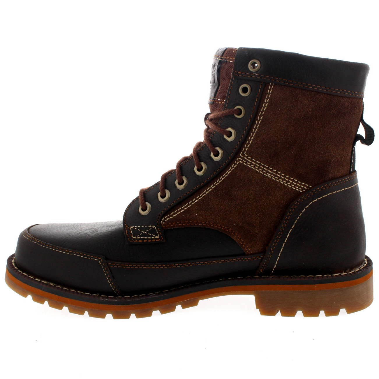 Timberland Gray Mens Footwear Leather Boots We have a rich New England heritage that inspires the way we make our products and run our business. We make boots, shoes, clothes and gear that are comfortable enough to wear all day and rugged enough for all year.