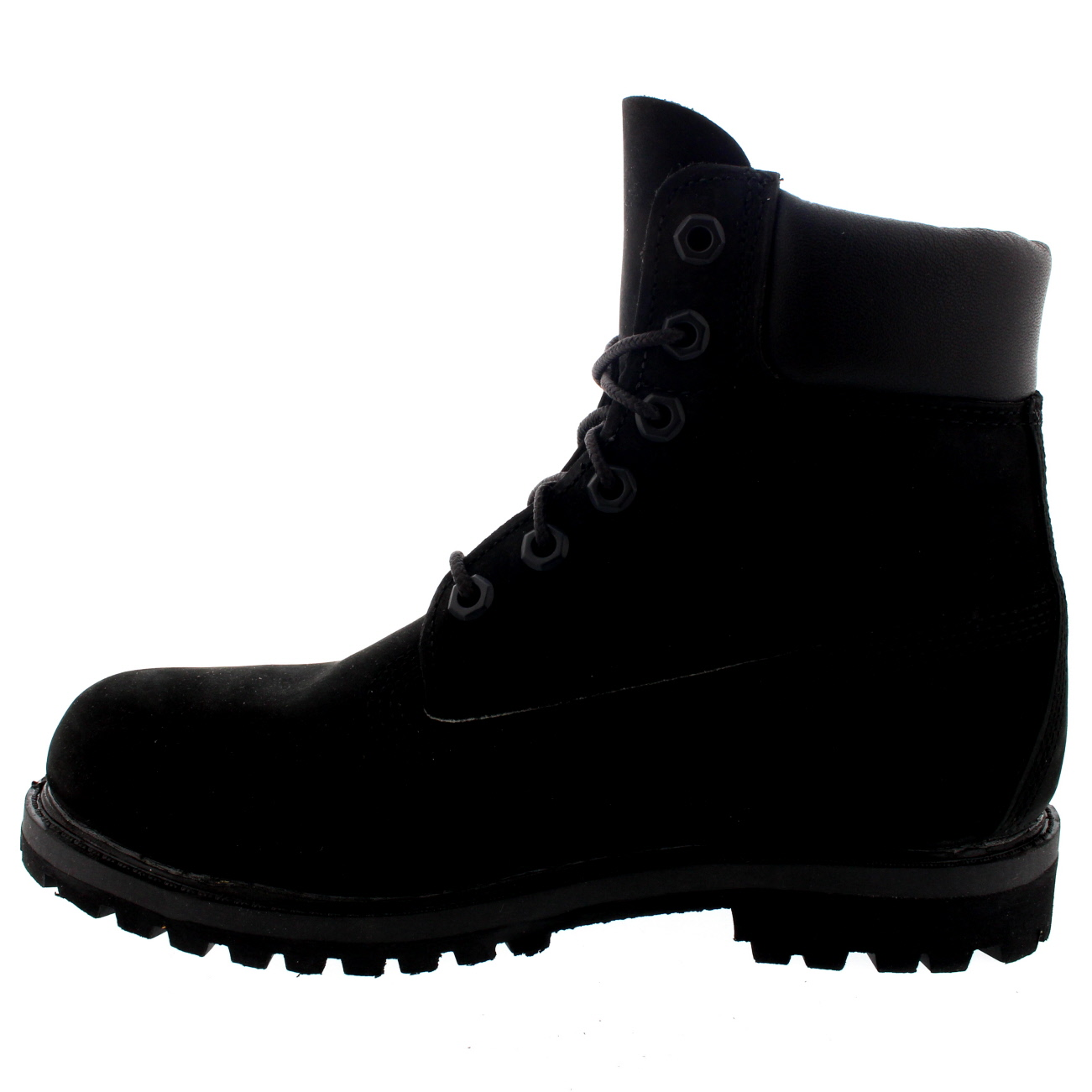 88cf3917ee09 Womens Timberland 6 Inch Premium Waterproof Lace Up Black Nubuck Boots UK  3-8