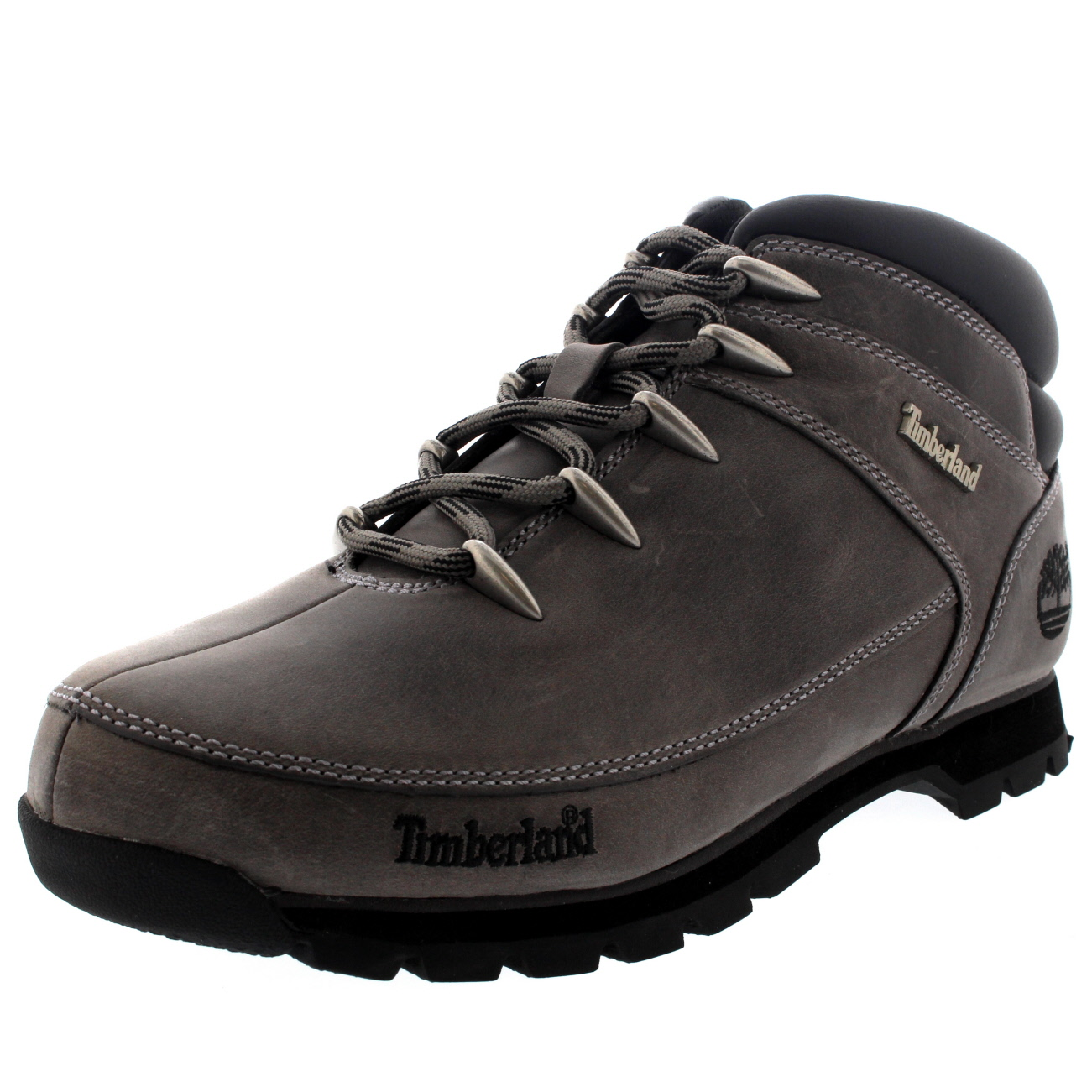 mens timberland euro sprint hiking snow winter leather black boots