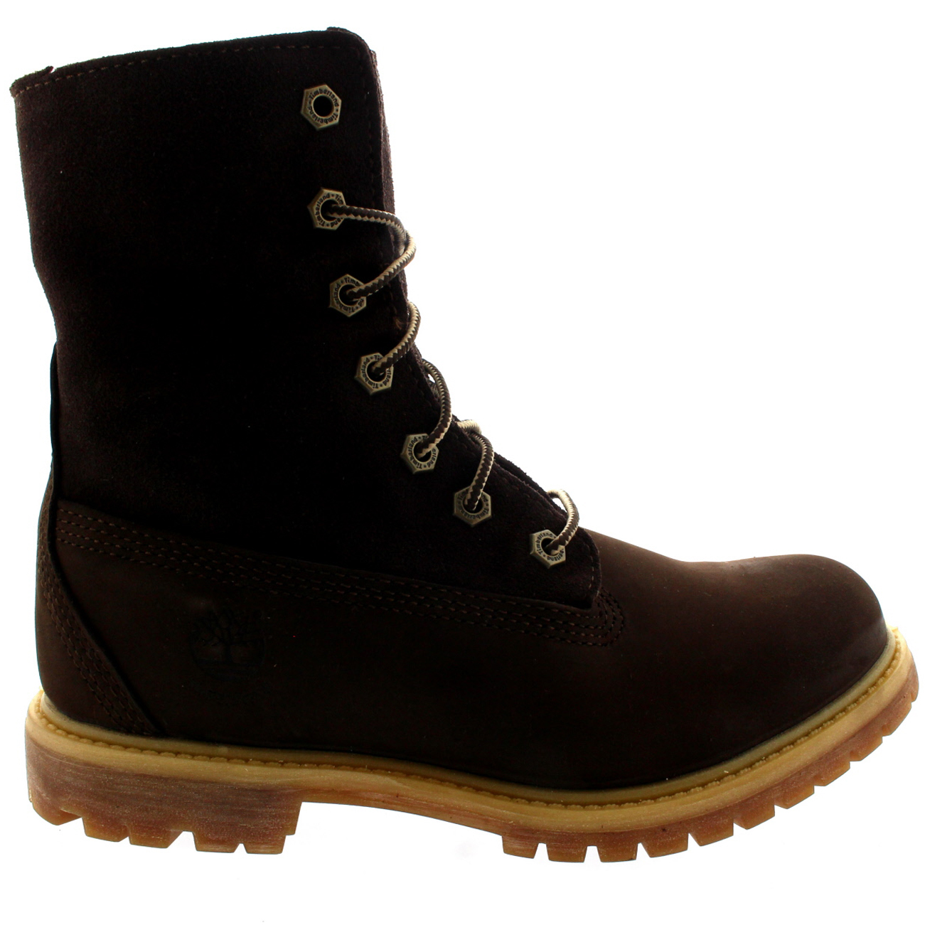 5f37d5eeb6a Womens Timberland Authentic Teddy Fleece Earth Keepers Fold Down Boots UK  3-9