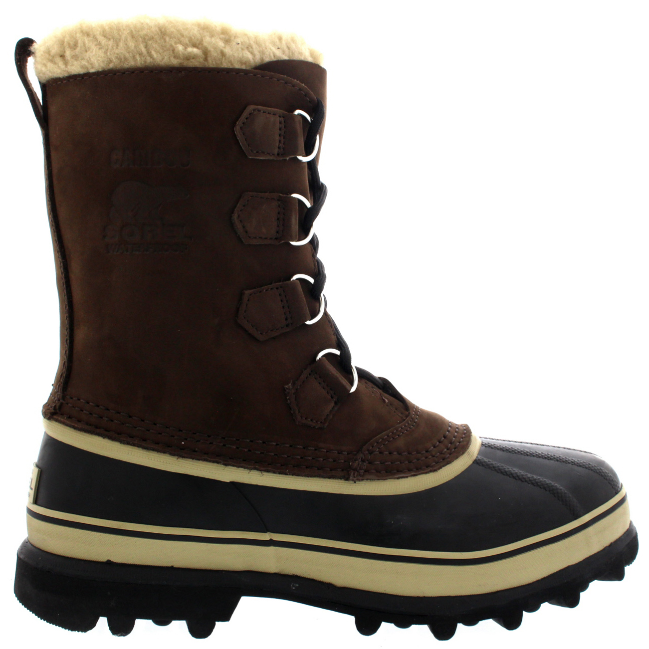 bc9892ecd54 Details about Mens Sorel Caribou Winter Snow Waterproof Fleece Lined Mid  Calf Boots UK 7-12