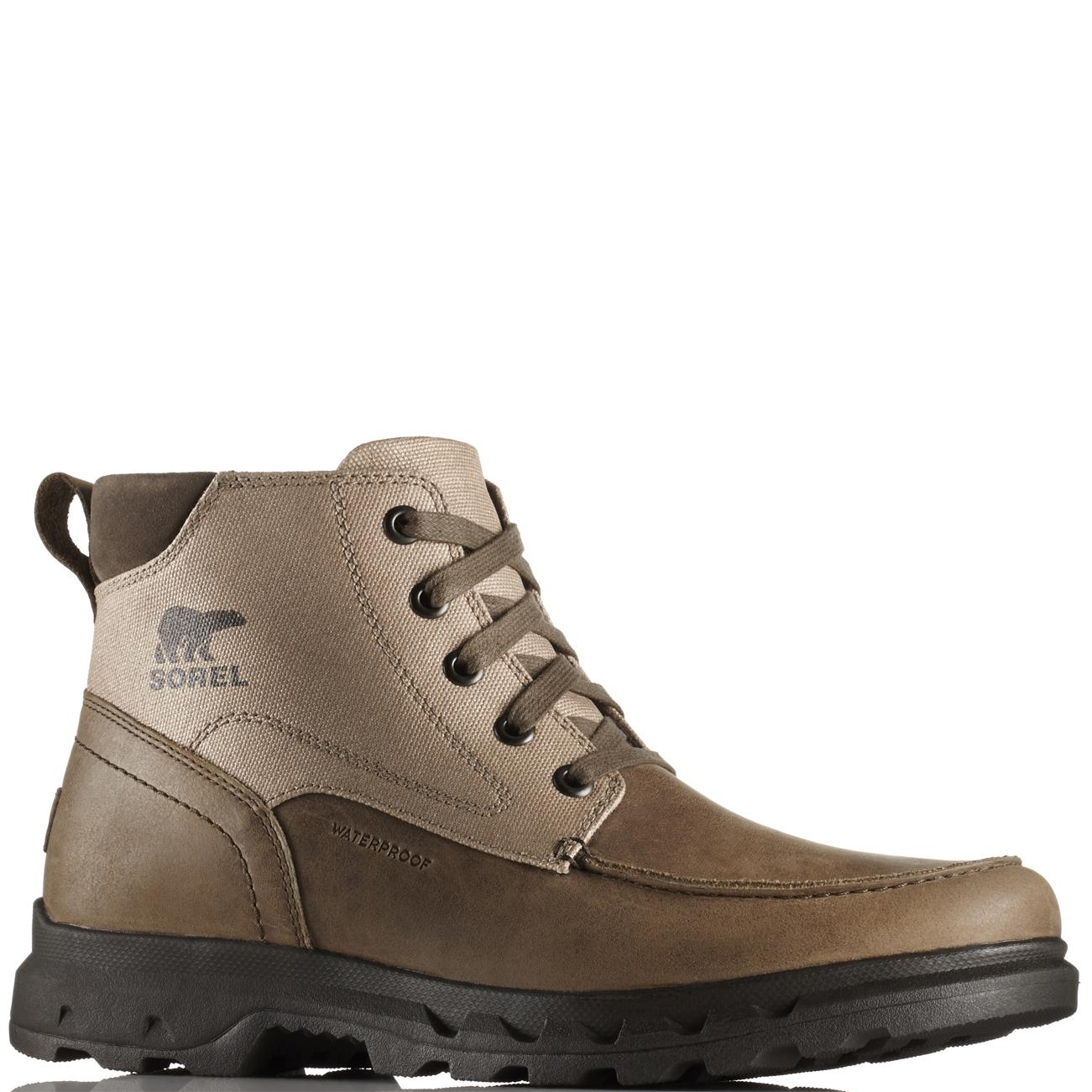 e6ebc4fc2aaa Mens Sorel Portzman MOC Toe Snow Walking Trekking Mountain Ankle ...