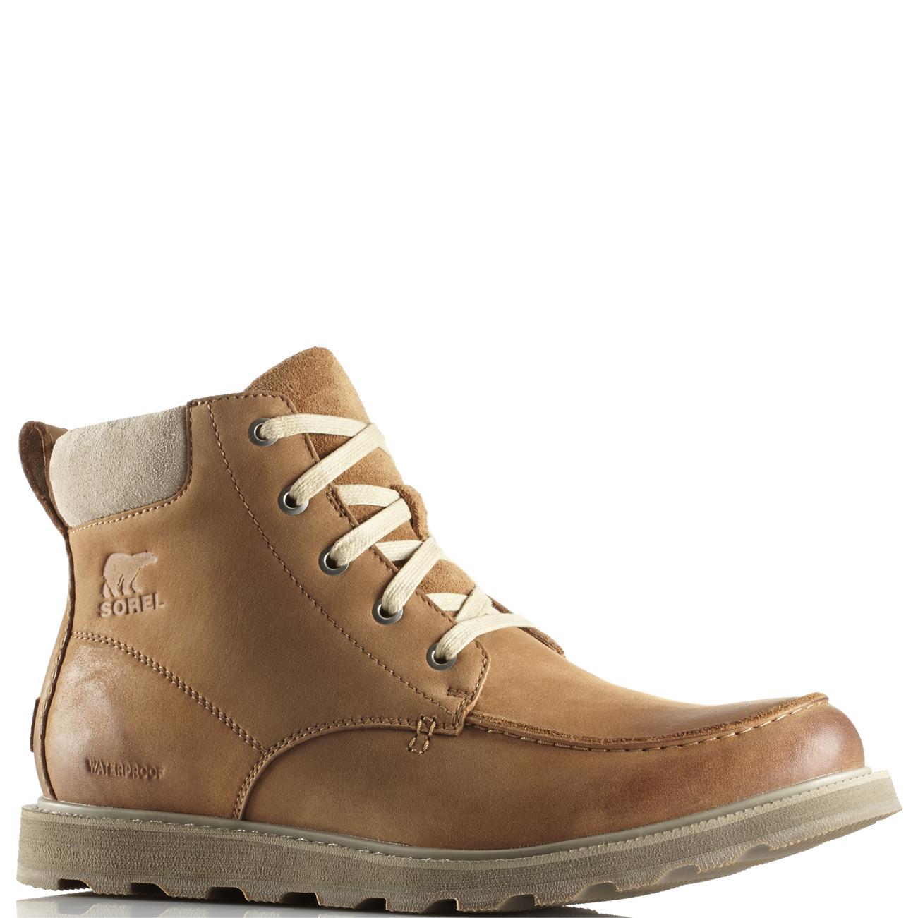 92c77508 Mens Sorel Madson Moc Toe Waterproof Nubuck Snow Winter Hiker Ankle Boot UK  7-13