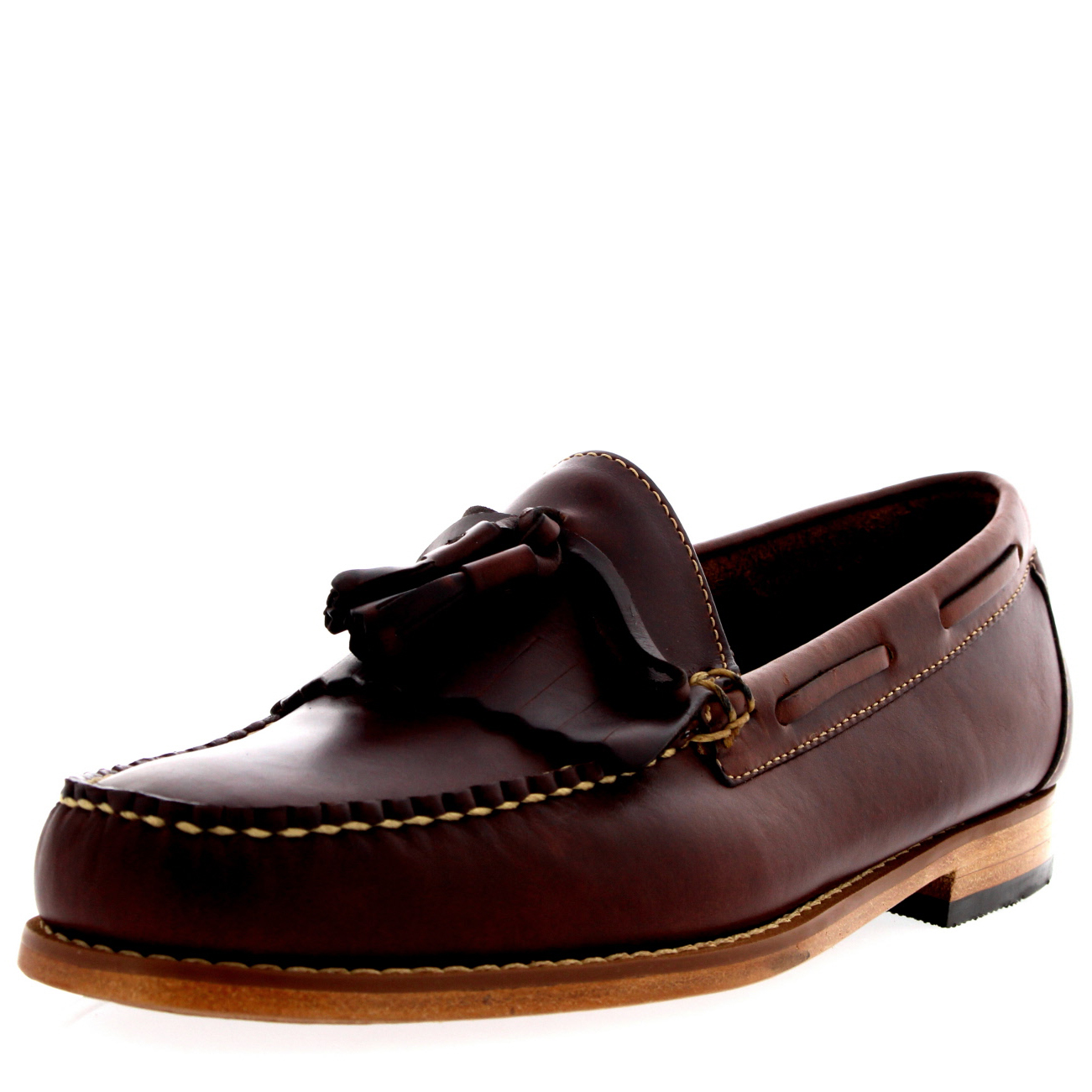 Mens G.H Bass Weejuns Layton Pull Up Kiltie Smart Leather UK Loafers schuhe UK Leather 6-12 e7ad68