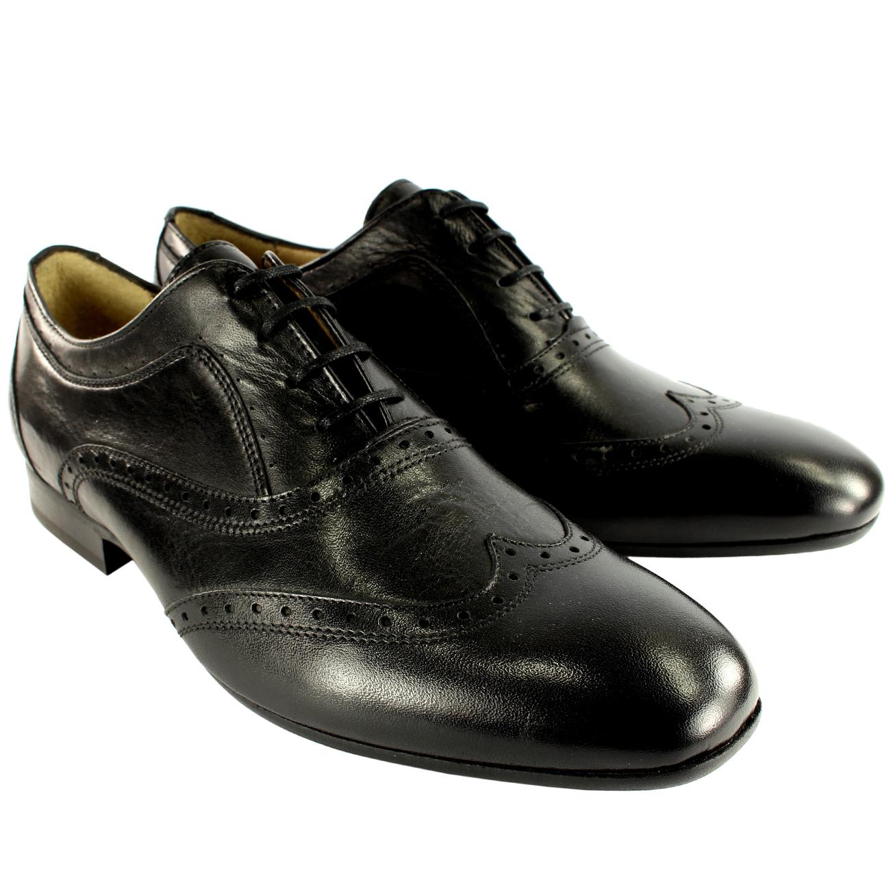 Uomo H By Hudson Francis Brogue Lace Up Up Up Smart Leder Schuhes New UK Größes 7-13 8f1c87