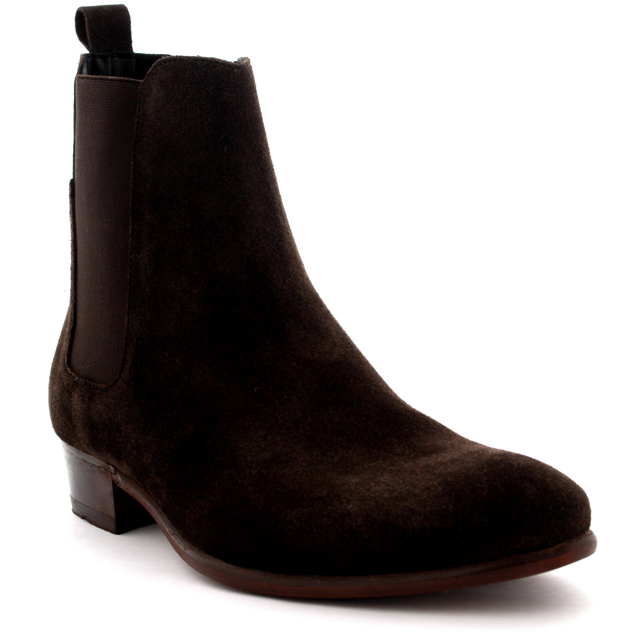 3dfaec6c0 Details about Mens H By Hudson Watts Suede Black Pull On Casual Ankle  Chelsea Boots UK 6-12