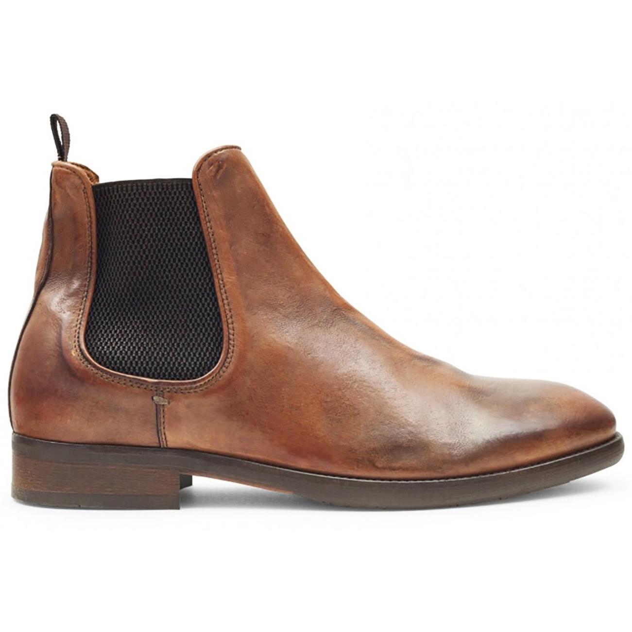 Mens Hudson London Kirchner Calf Leather Office Elastic Chelsea Boots UK 7-12