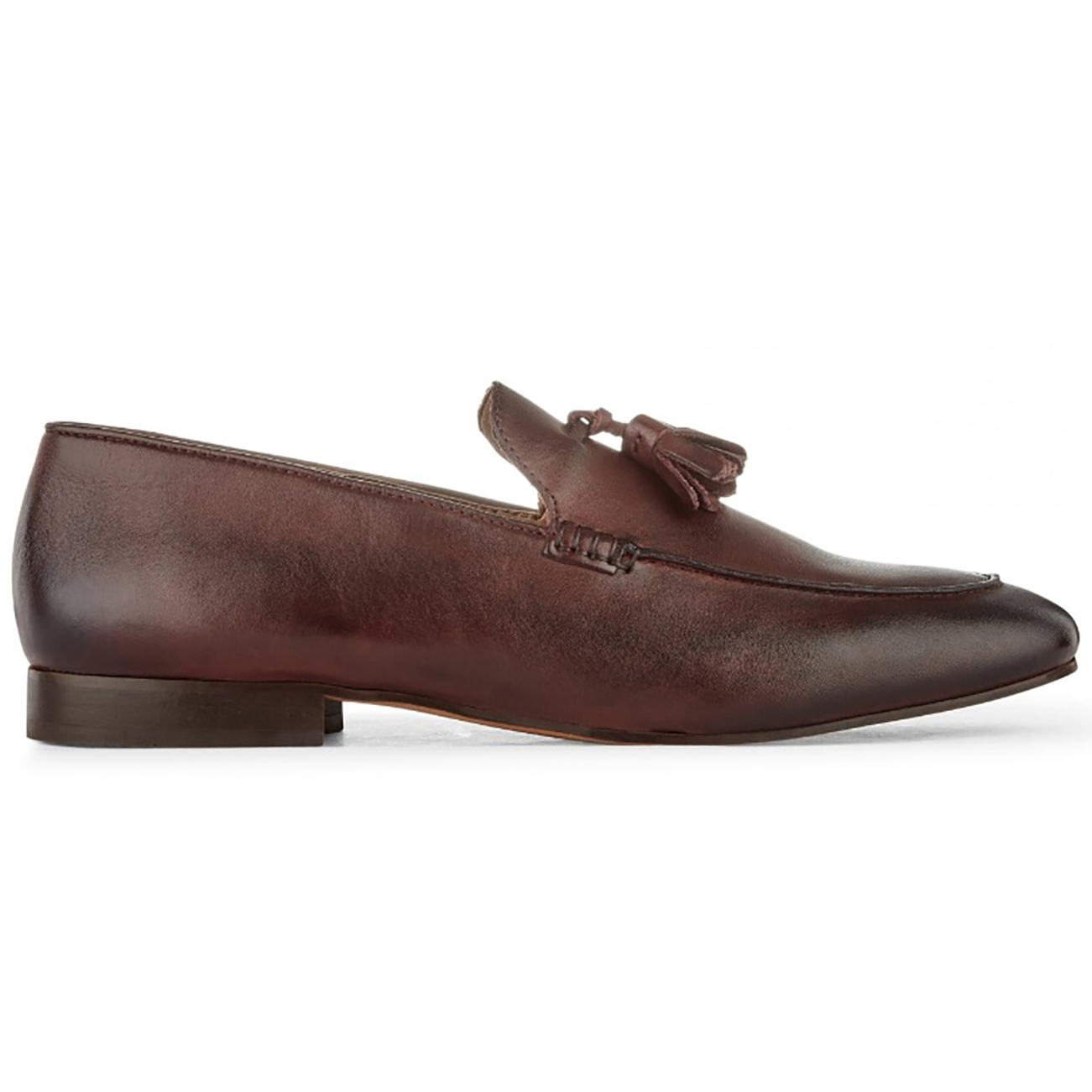 29a4925b40 Details about Mens H By Hudson Bolton Calf Leather Work Office Smart Tassel  Loafers UK 7-12