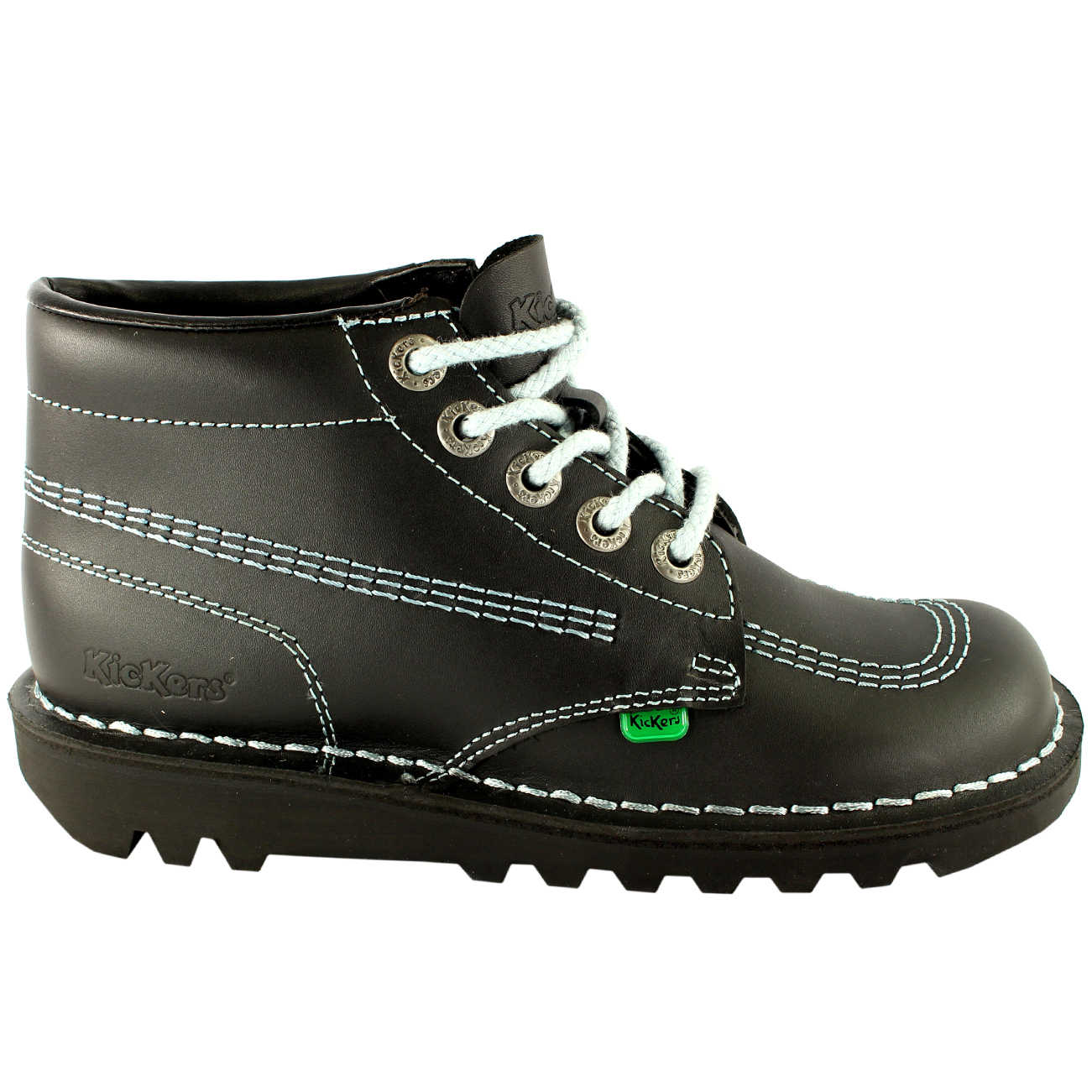 Uomo Kickers Kick Hi Leder Work Classic Lace Up Office Work Leder Stiefel Schuhes UK 7-12 3279ae