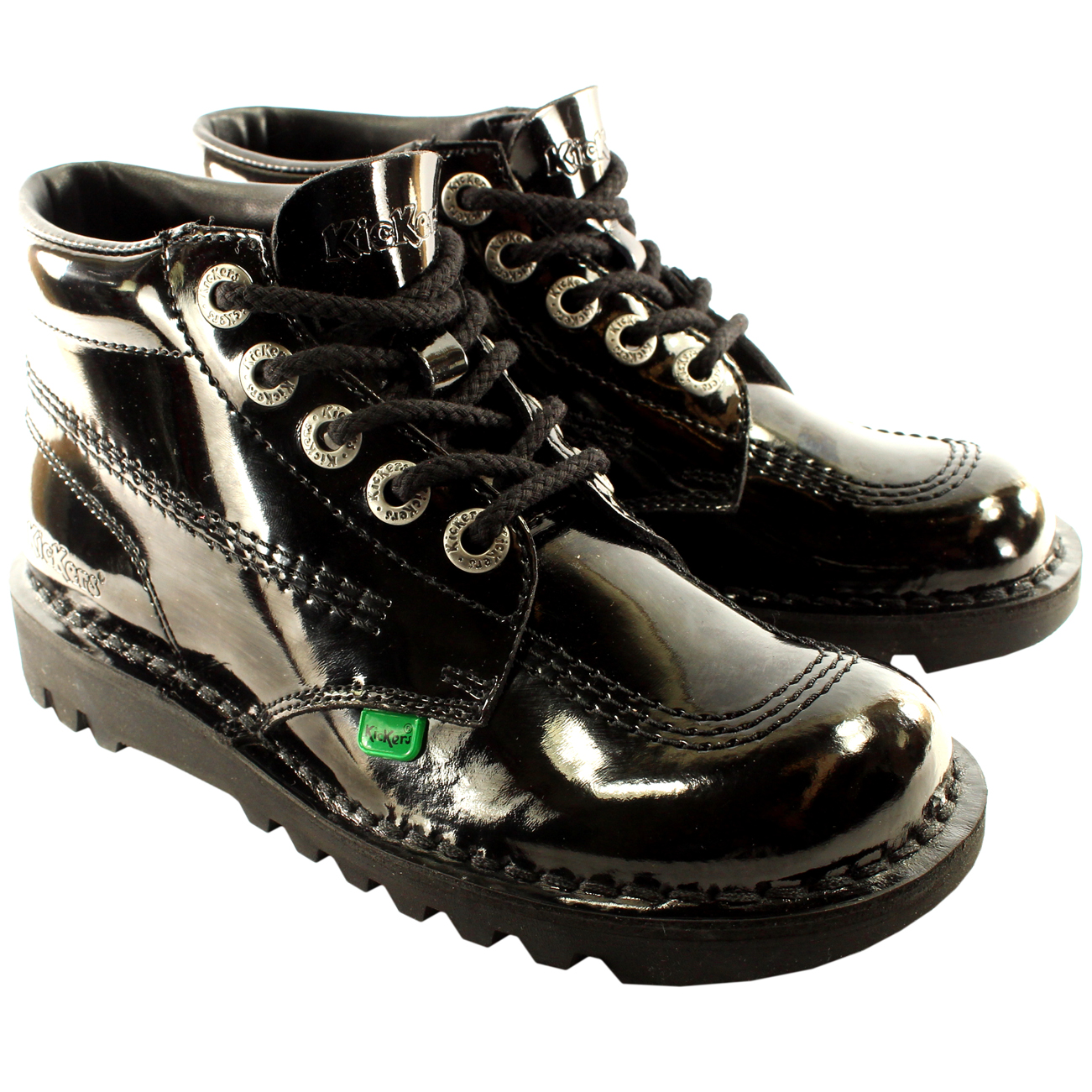 Kickers Kick Hi Patent Ankle Boots