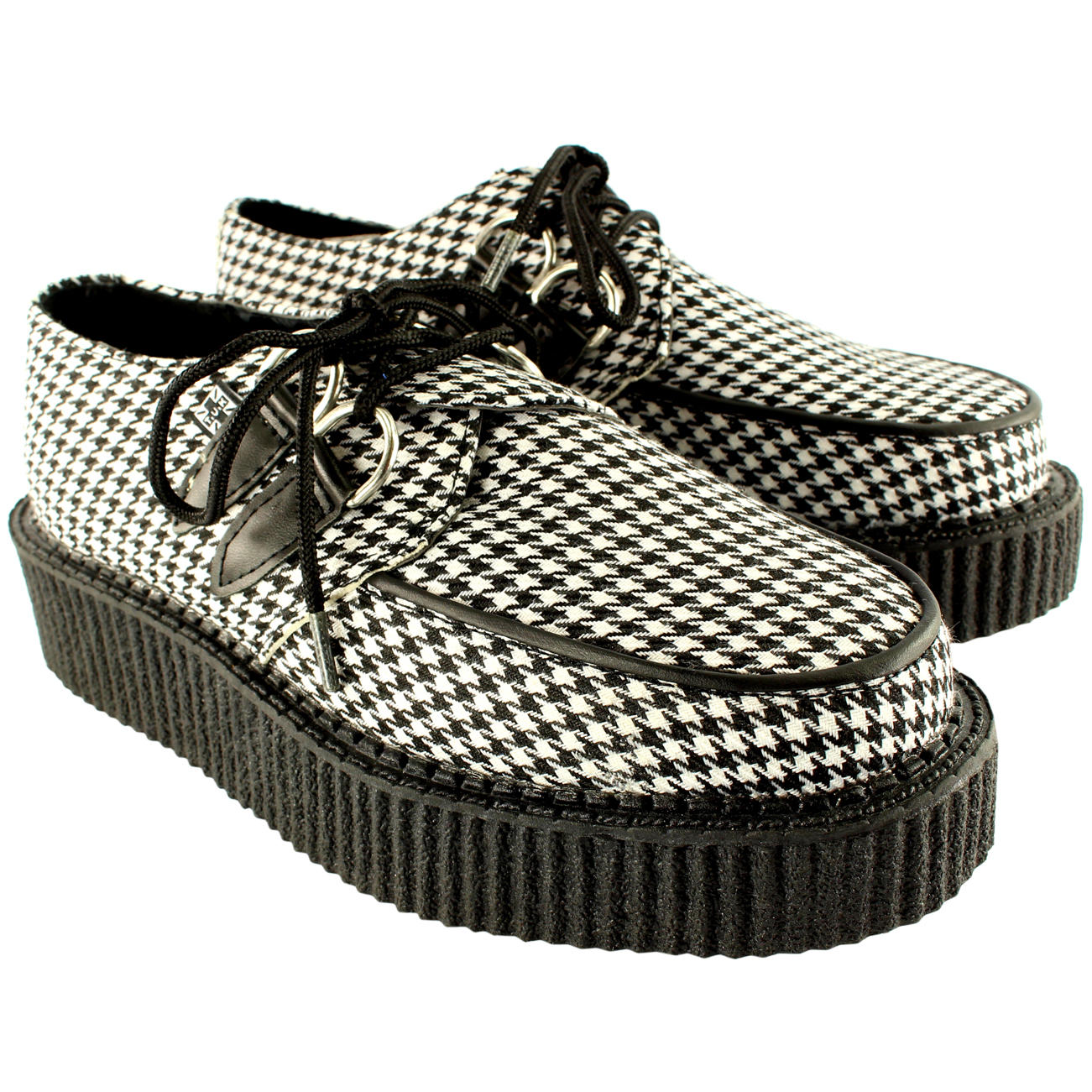 T.U.K Houndstooth Round Low