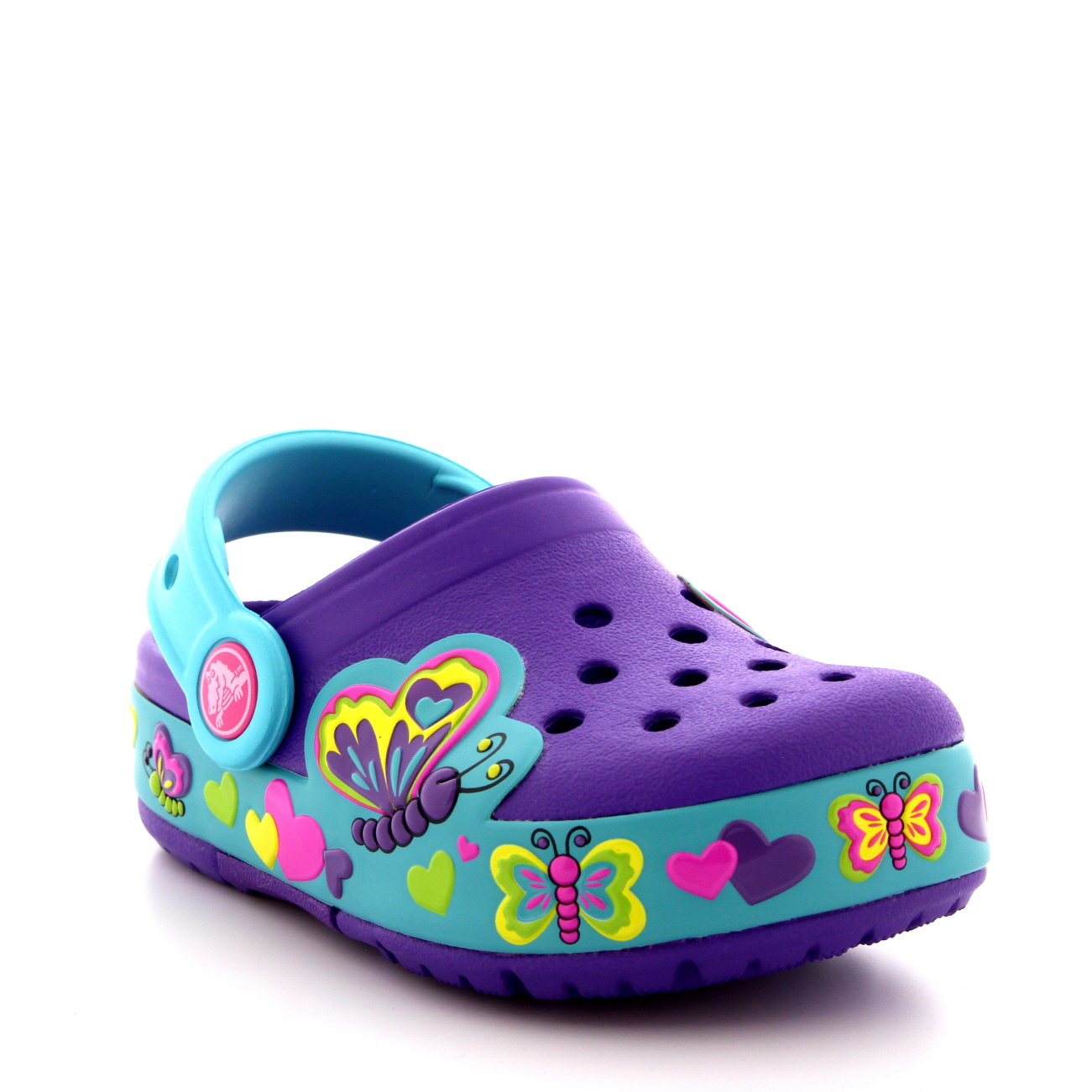 Kids Girls Crocs Crocslights Butterfly