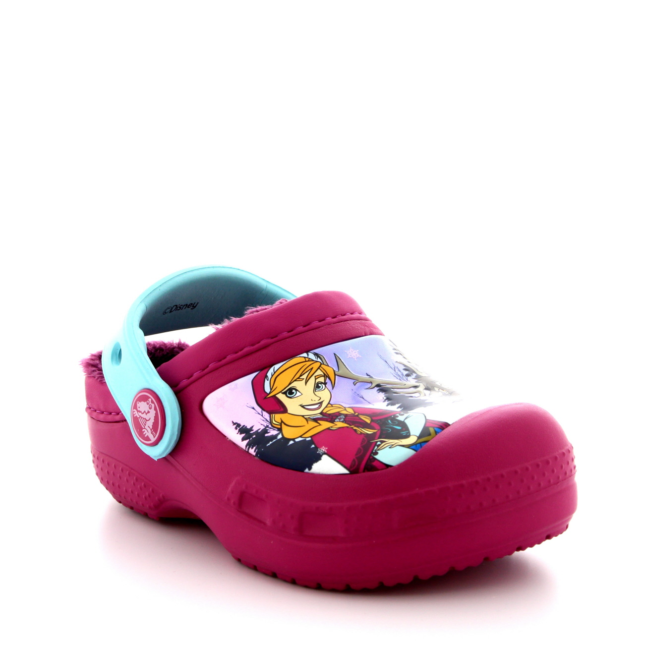 Kids Girls Crocs Frozen Fuzz Lined