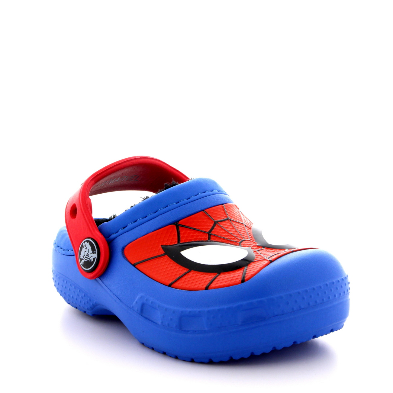 Kids Boys Crocs Spider Man Fuzz Lined