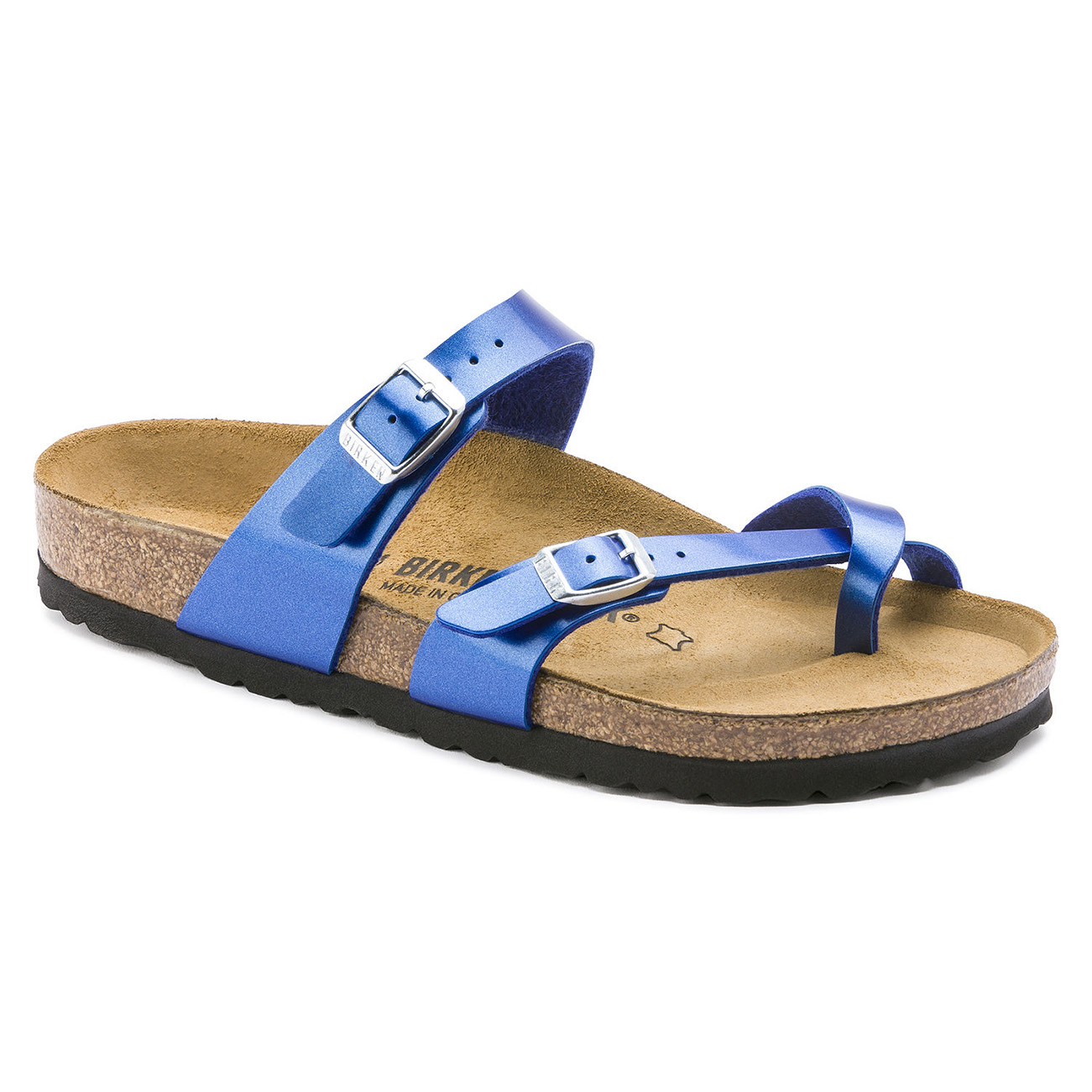 Birkenstock Mayari Metallic Twin Buckle
