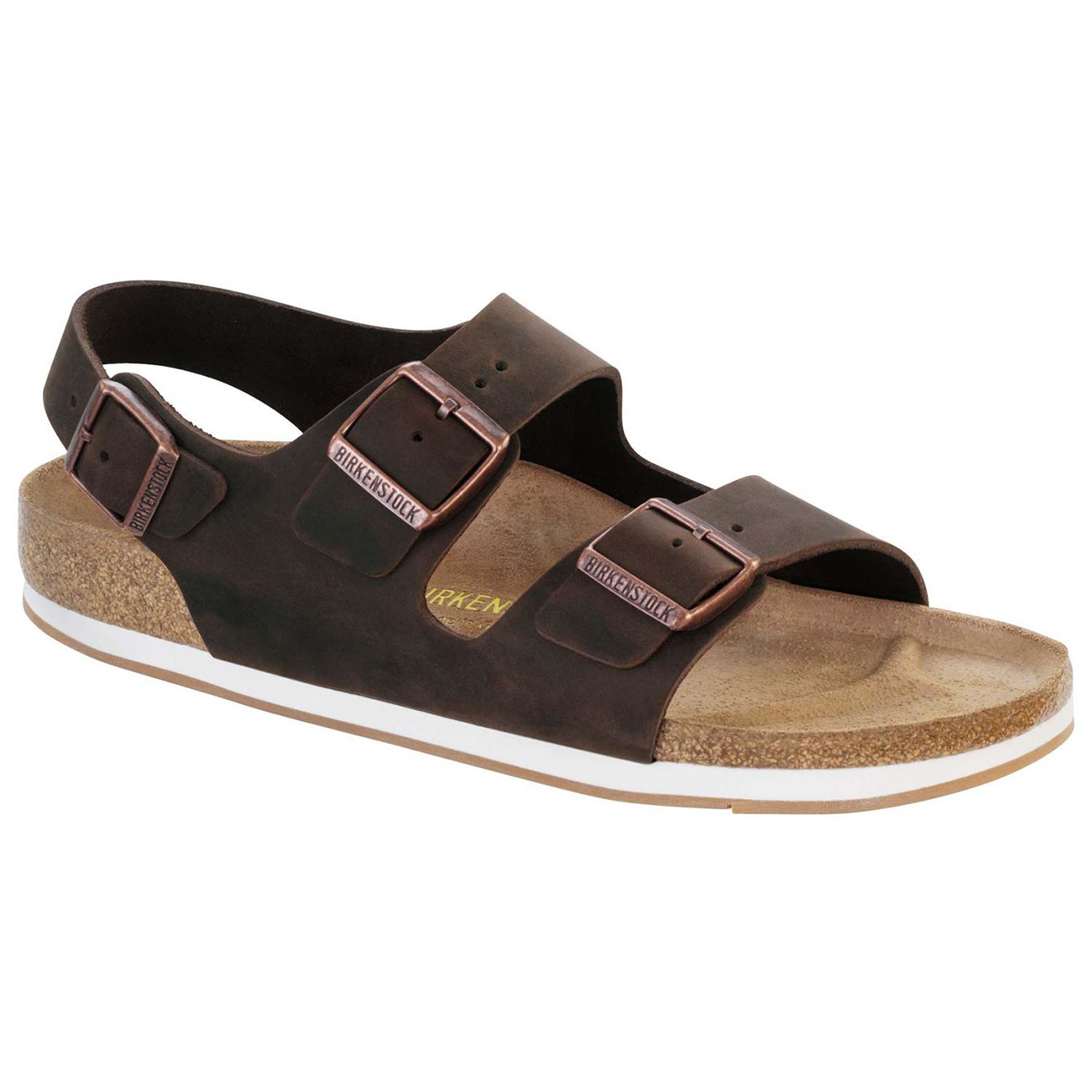 Unisex Adults Birkenstock Milano Oiled Leather