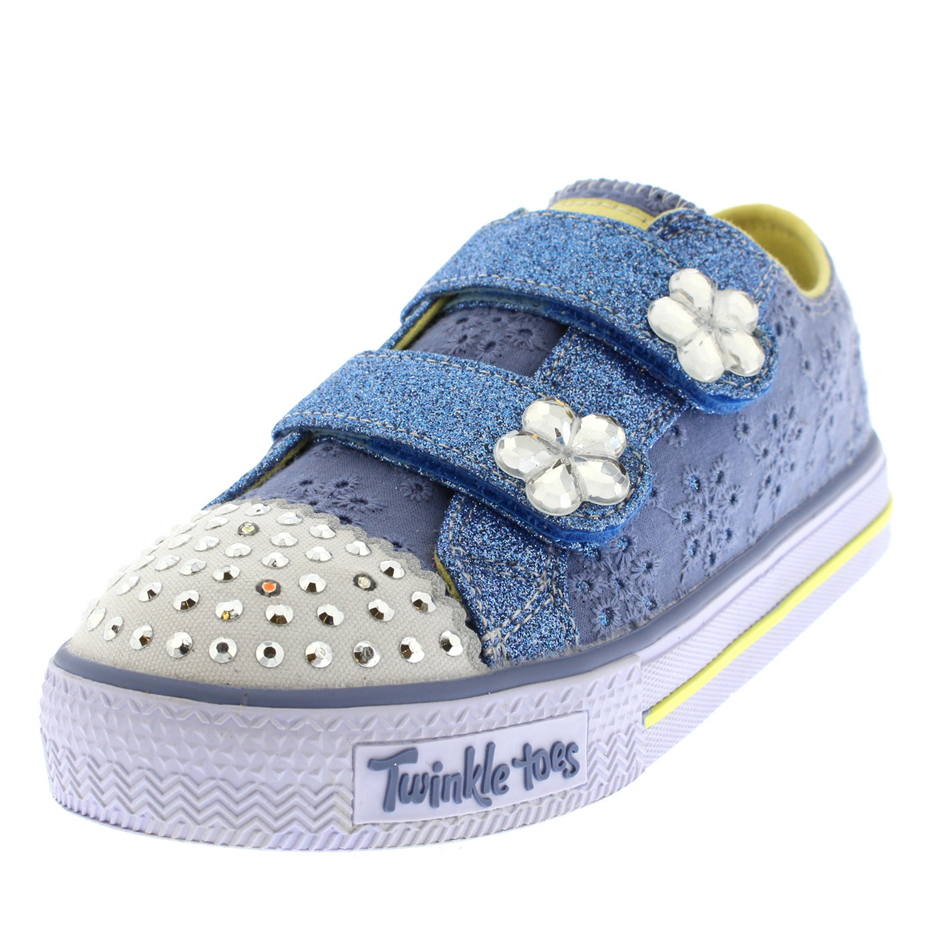 Infant Girls Skechers Twinkle Toes Shuffles Frillseeker