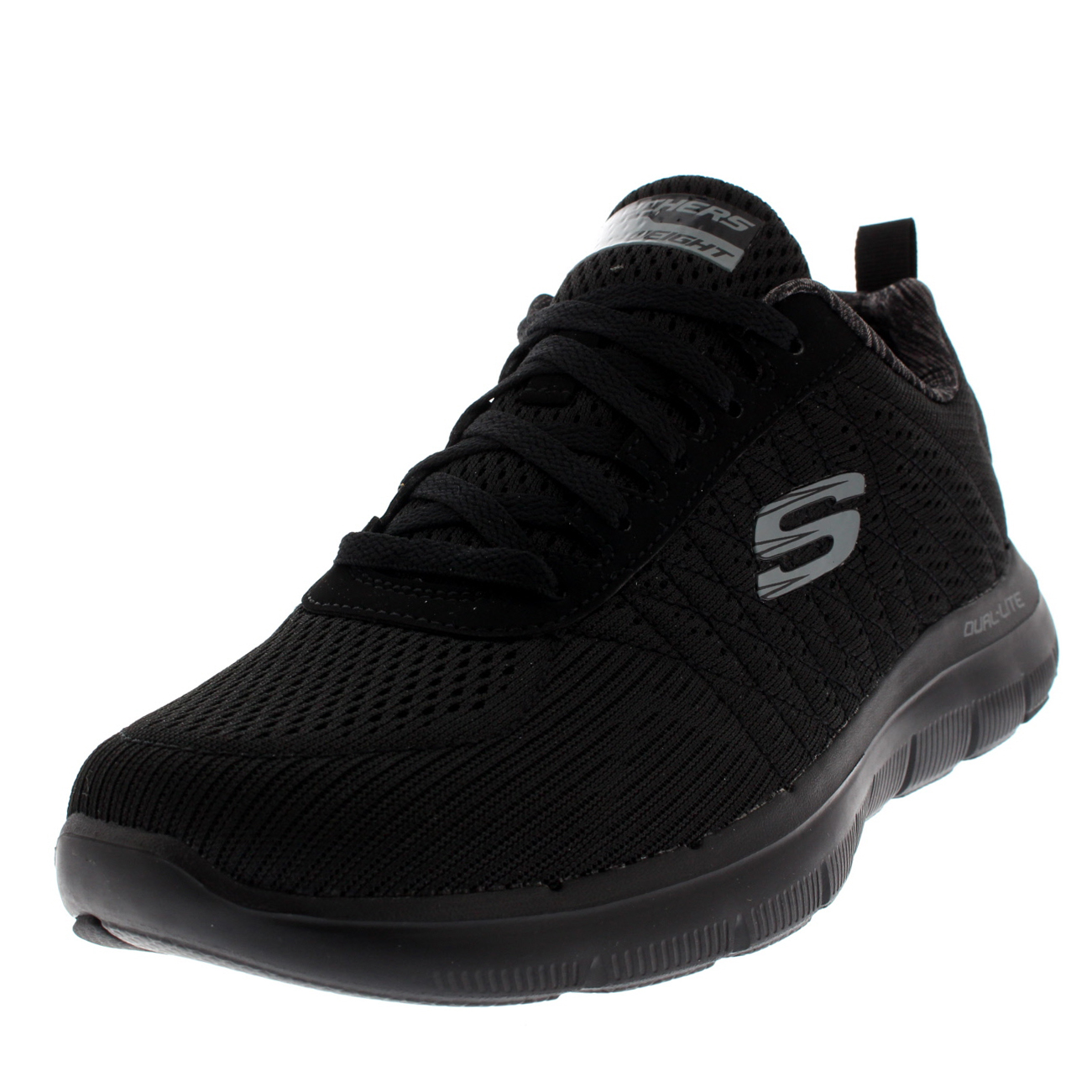 black skechers memory foam uk
