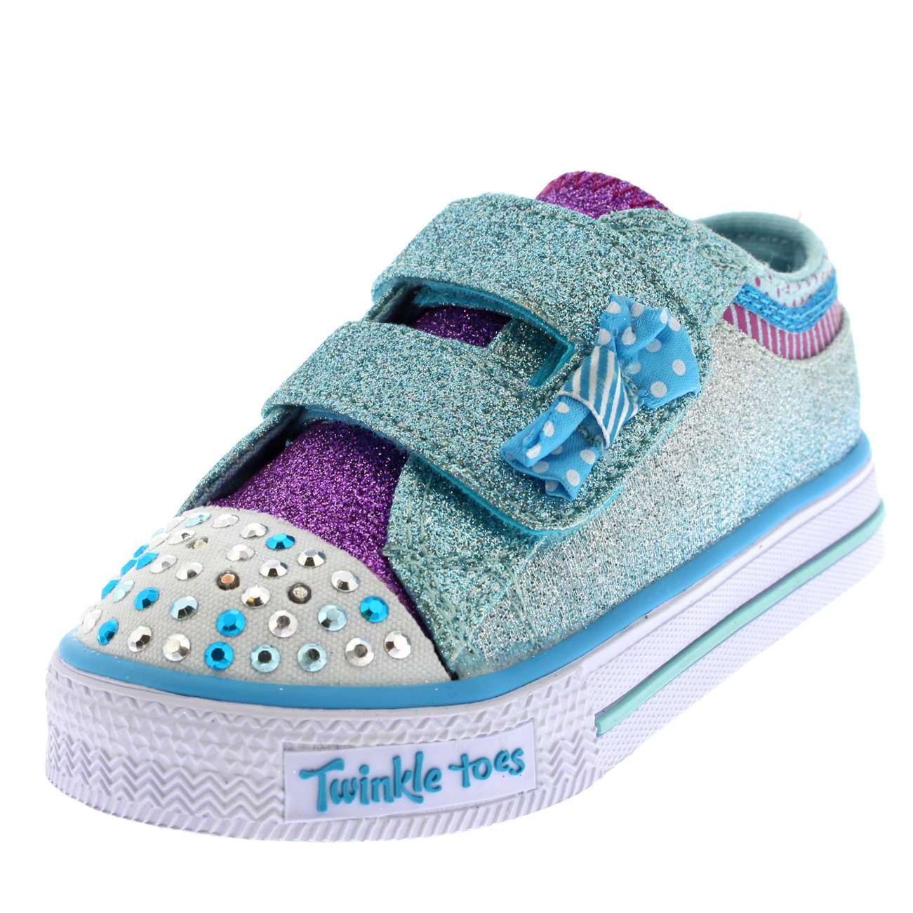 Kids Girls Skechers Shuffles Twinkle Toes Bow Buddies