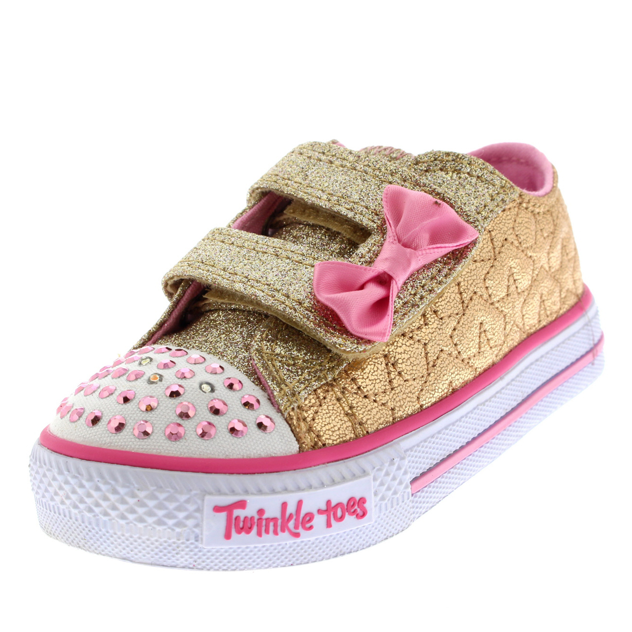 Kids Girls Skechers Twinkle Toes Shuffles Starlight