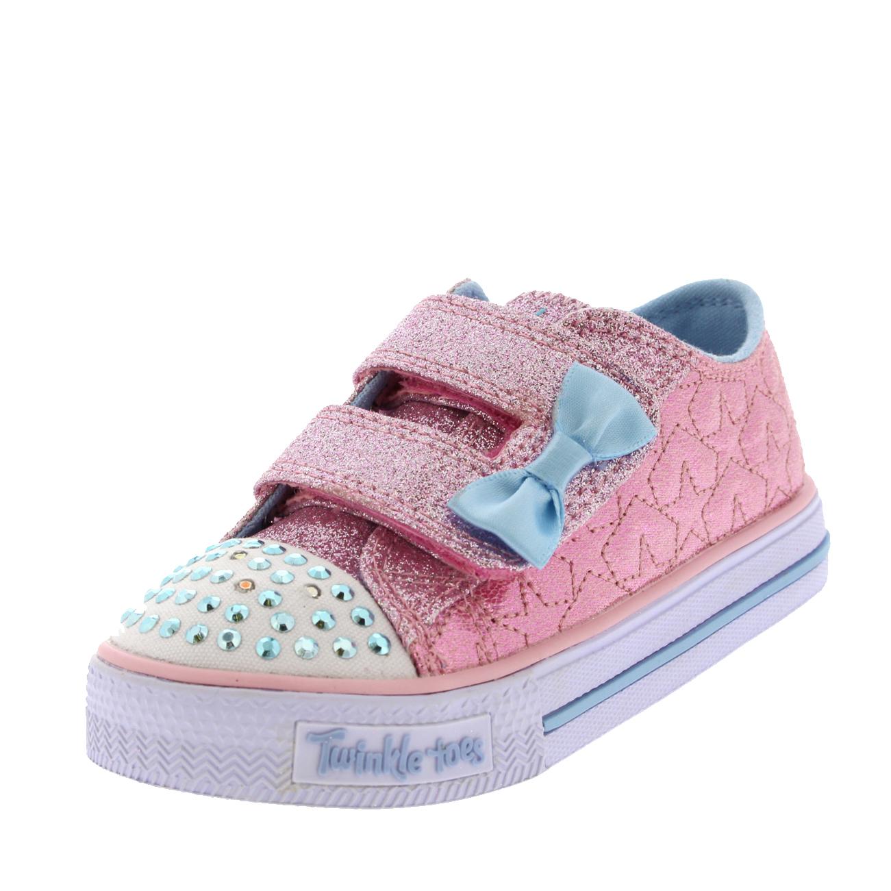 Kids Girls Skechers Twinkle Toes Shuffles Starlight Style