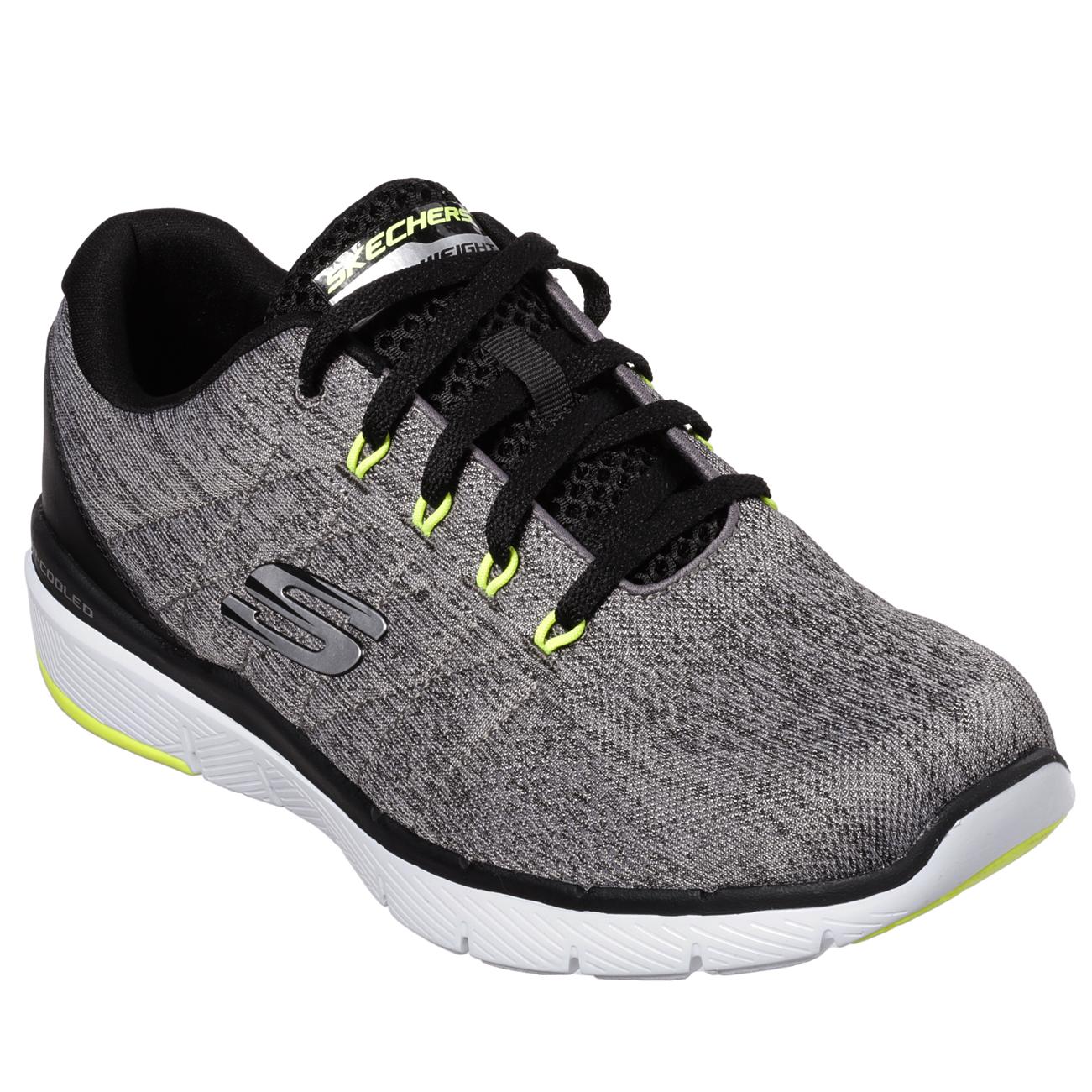 Walking Uomo Skechers Flex Advantage 3.0 Stally Lightweight Walking  Gym Trainers UK 7-12 b21aa9