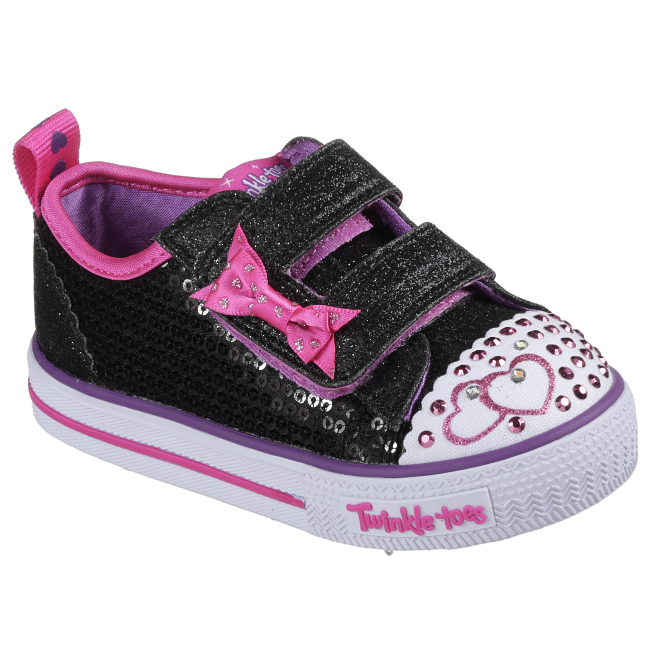 Kids Girls Infant Skechers Twinkle Toes Shuffles Itsy Bitsy