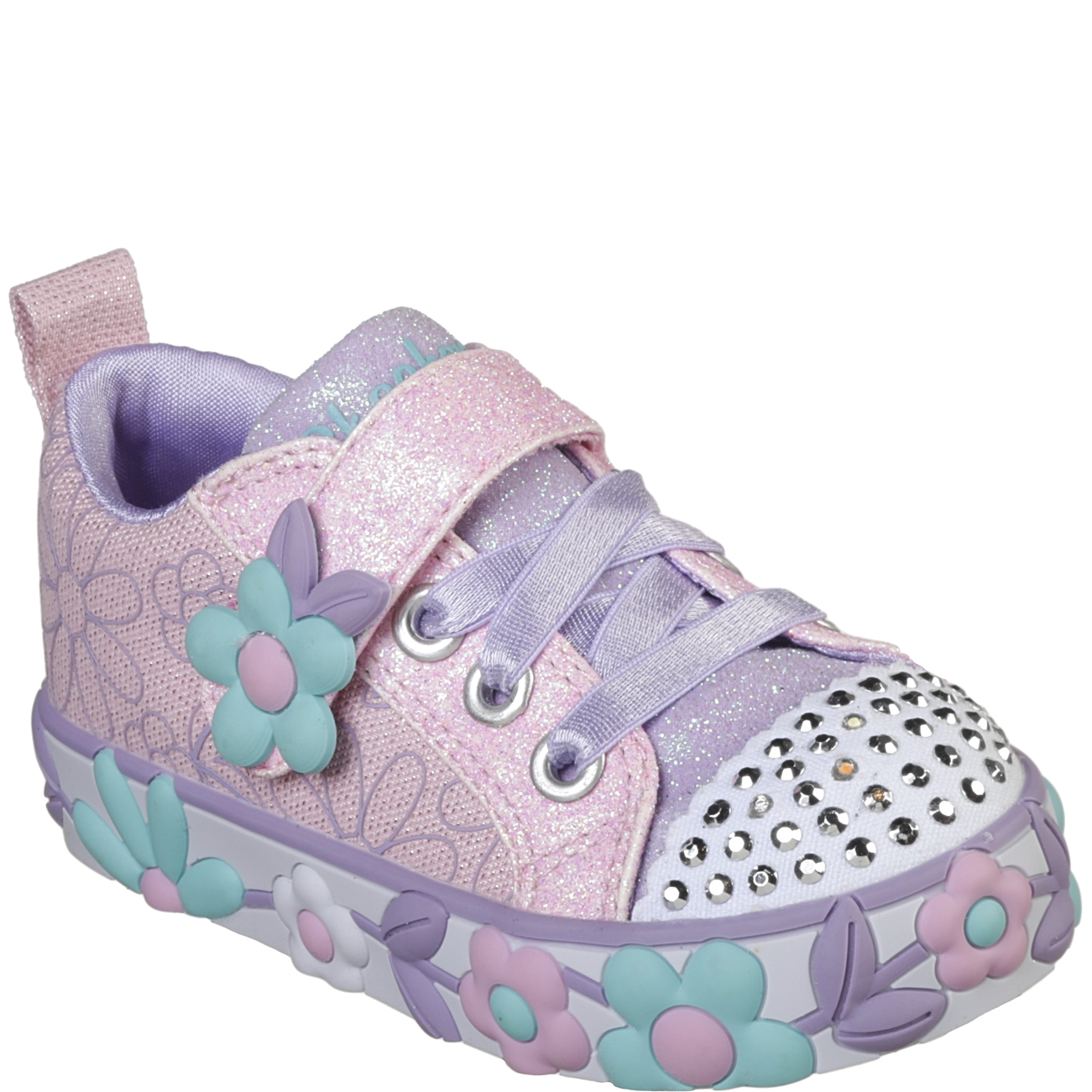 Kids Girls Infant Skechers Twinkle Toes Daisy Lites