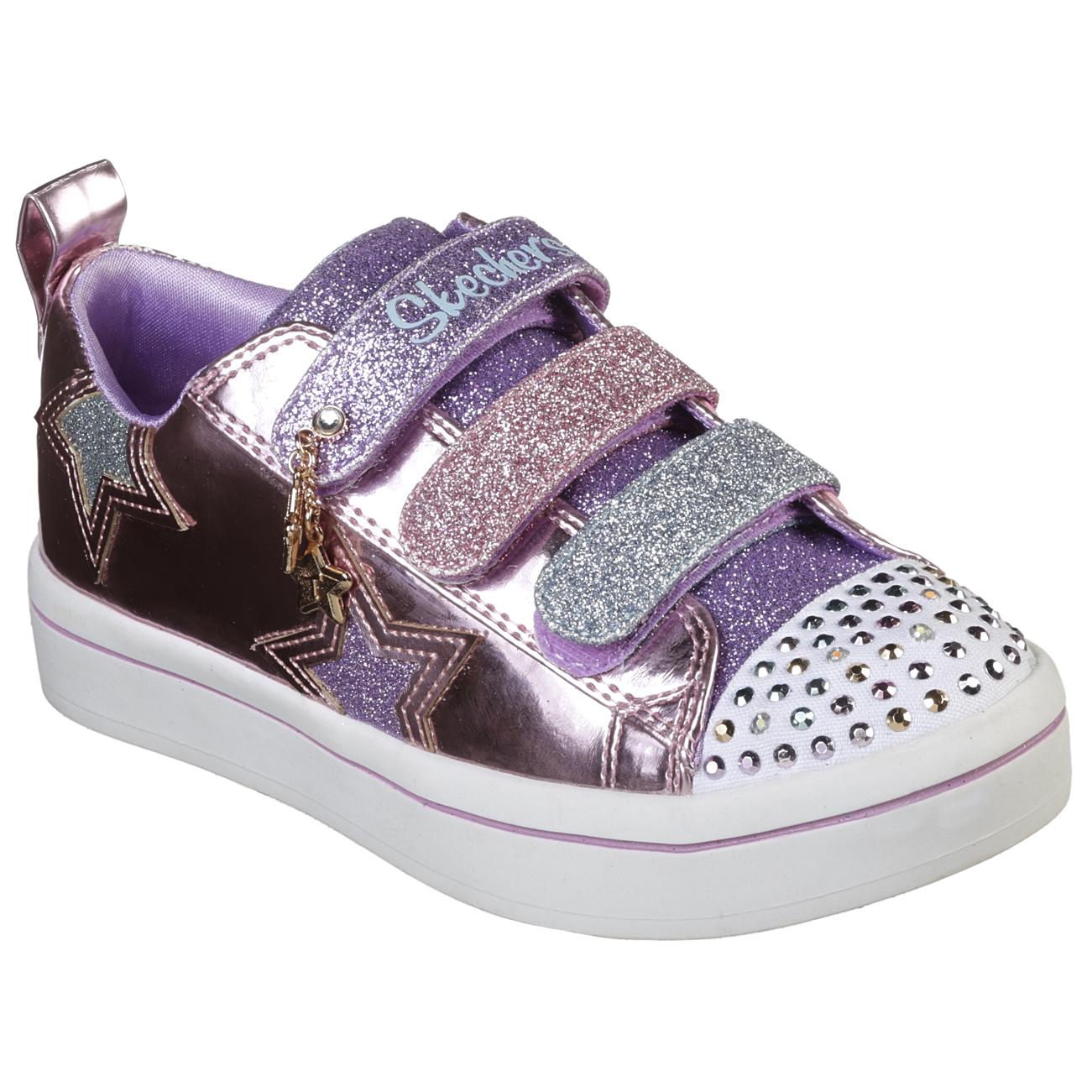 Kids Girls Skechers Twinkle Toes Twi-Lites Twinkle Stars