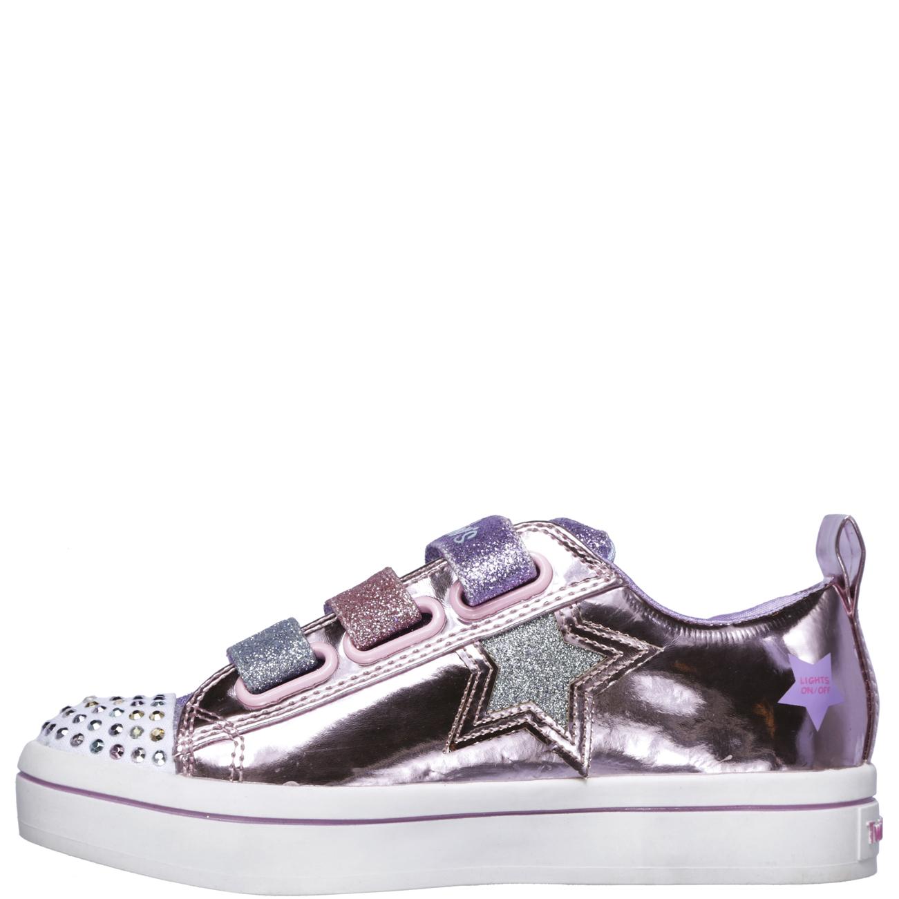 c07731548c0 Kids Girls Skechers Twinkle Toe Twi-Lites Twinkle Stars Party ...