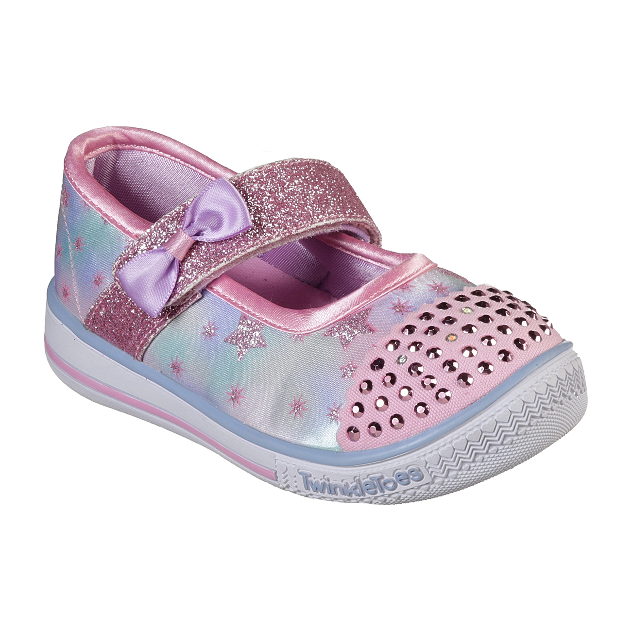 Kids Girls Skechers Twinkle Toe Twinkle Plat Starry Spark