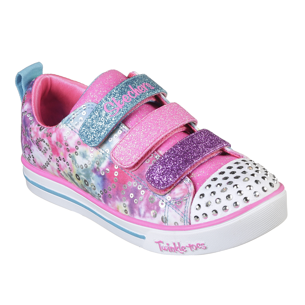 Kids Girls Skechers Sparkle Lite Rainbow Brights