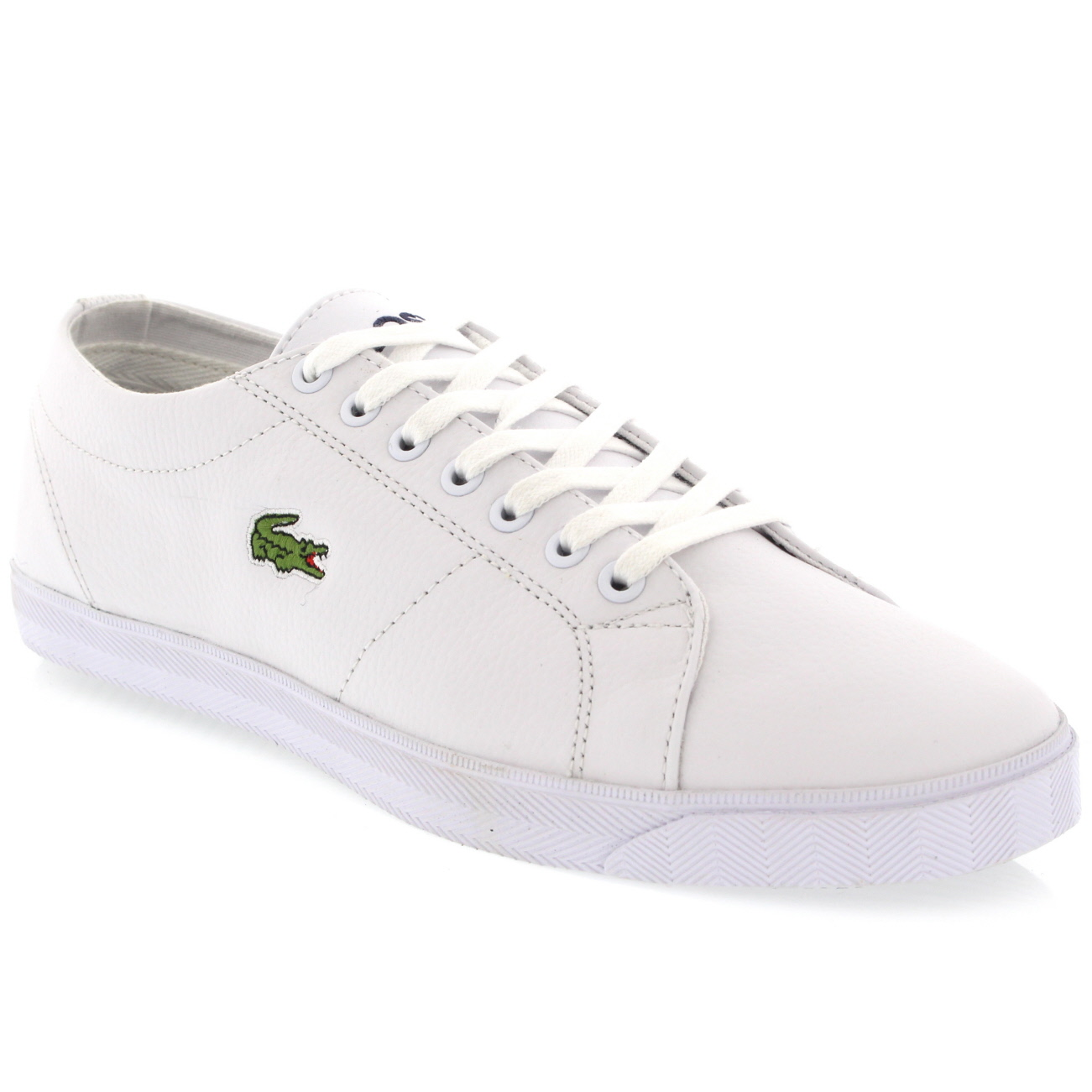 51fcaf0110bc48 Lacoste Marcel Leather Trainers. Images  Zoom