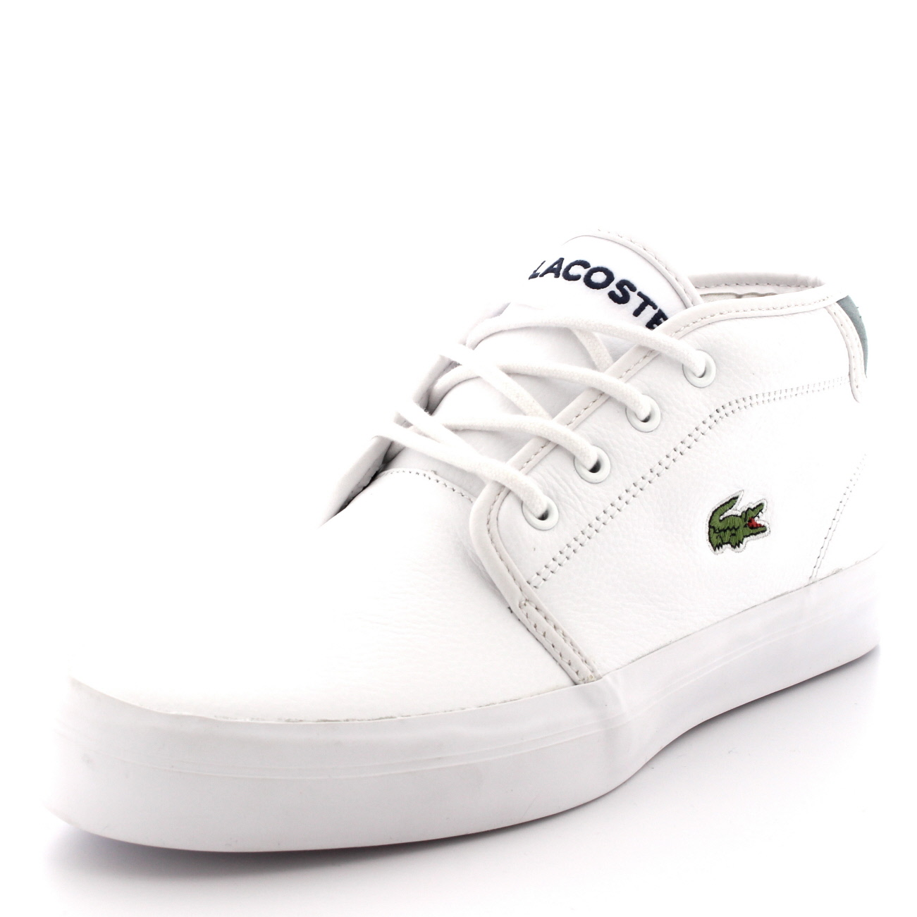 Ampthill Leather Mid Trainers - White Lacoste FLunQnfLK