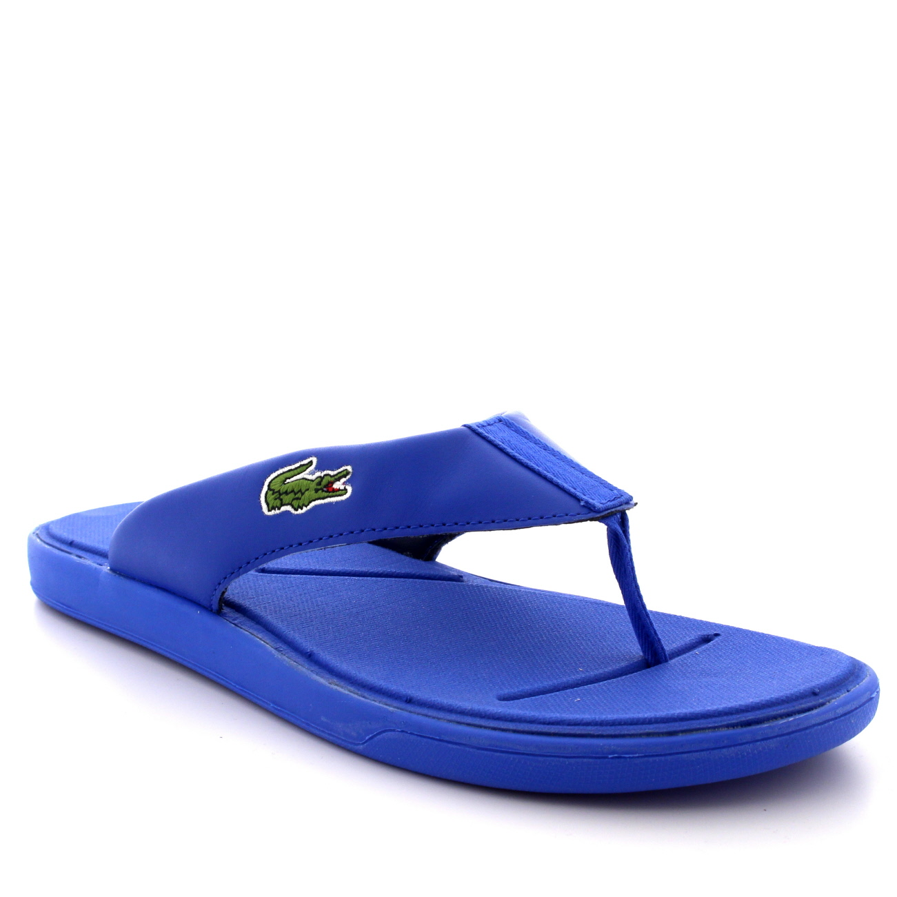 8cd6d3fab Mens Lacoste Light.30 116 Beach Pool Leather Holiday Flip Flops Sandals UK  6-12