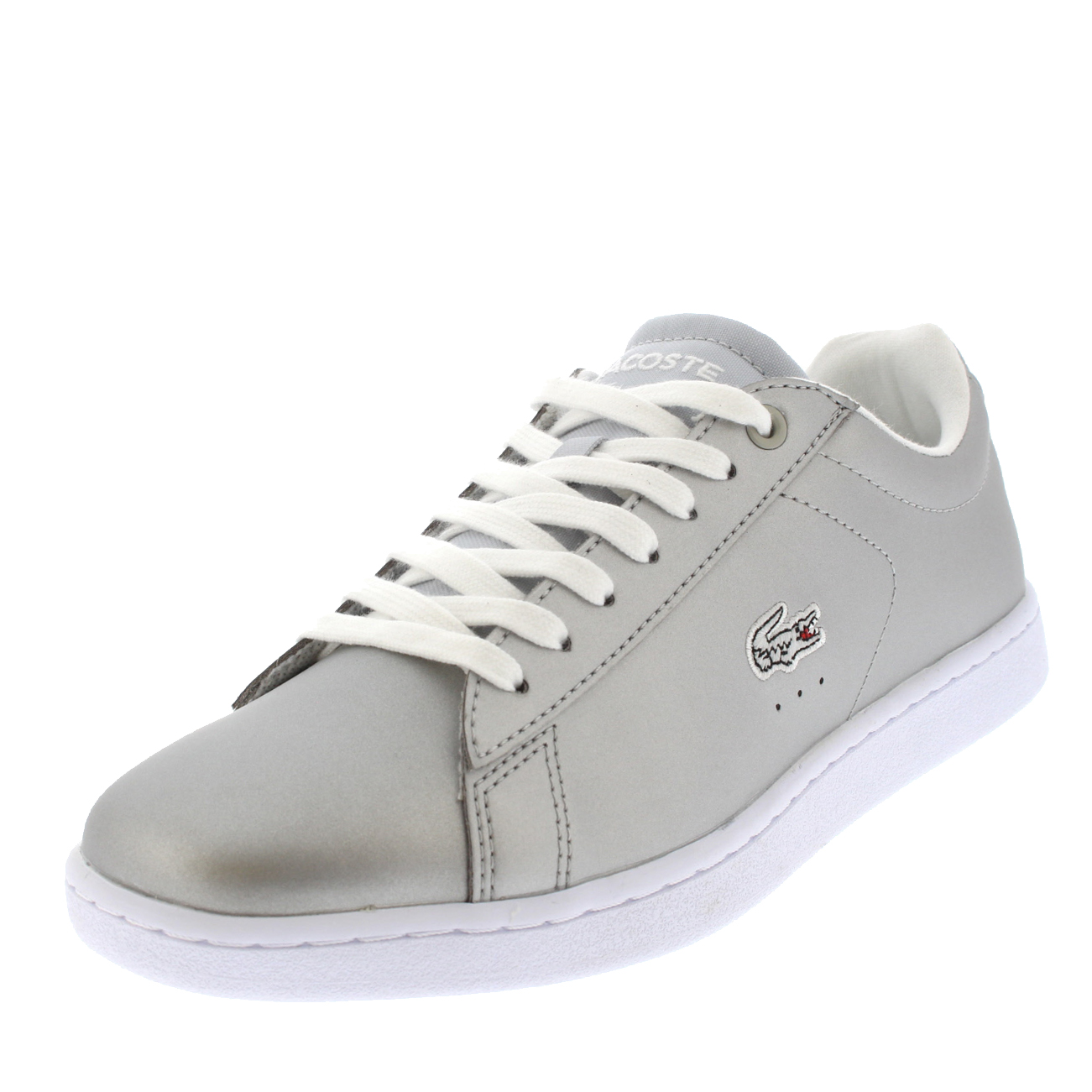 3d4c618e3 Lacoste Women s Carnaby EVO 117 Leather Lace up Trainer Silver UK 8 ...