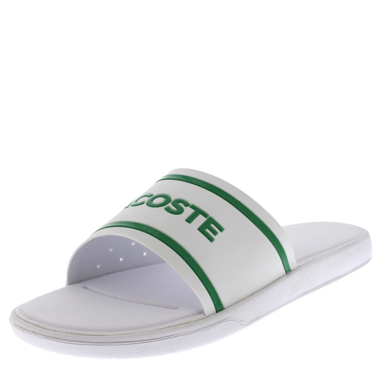 7123233c396ba Lacoste Men s L.30 Slide 118 2 Cam Flip Flops White 8 UK