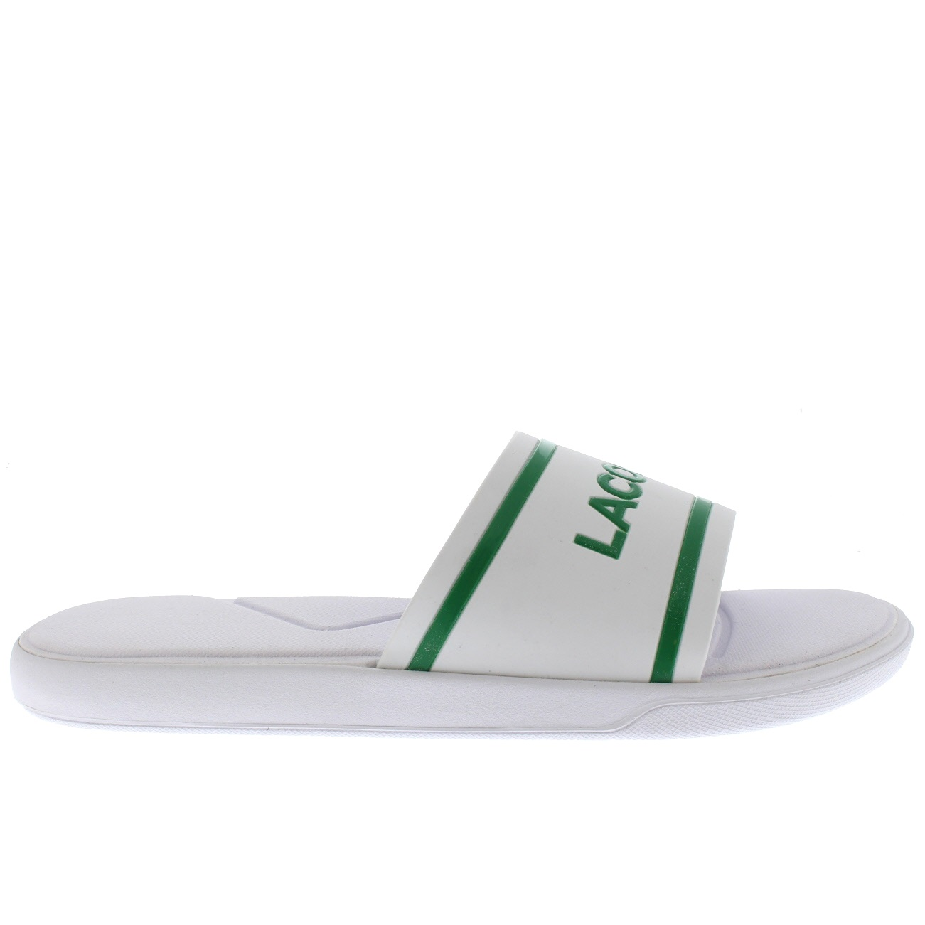 f13d2aba656b4b Mens Lacoste L.30 118 2 Slides Rubber Lightweight Summer Open Toe ...