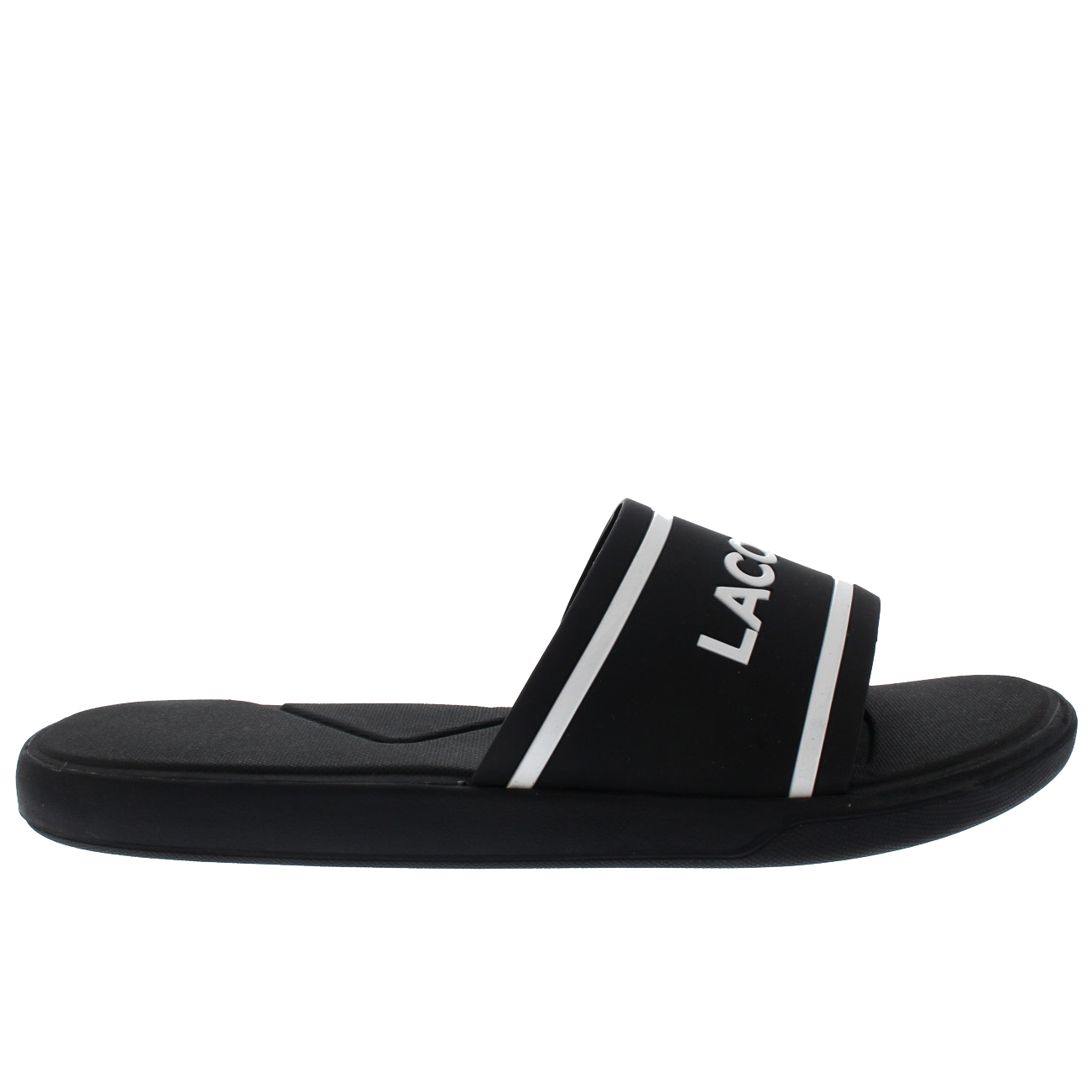 4b6e5ff9e1ab ... Mens Lacoste L.30 118 118 118 2 Slides Rubber Lightweight Summer Open  Toe Sandal