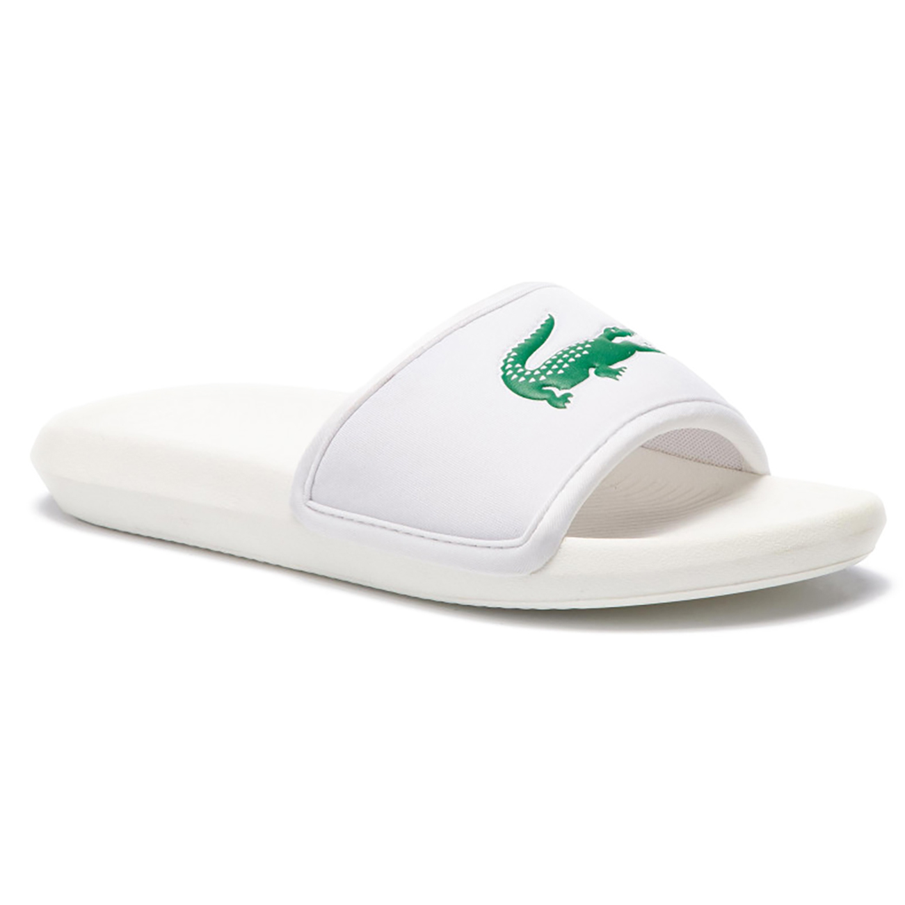 9728e399352e Details about Mens Lacoste Croco 119 1 Cma Rubber Slides Open Toe  Lightweight Sandals UK 6-12