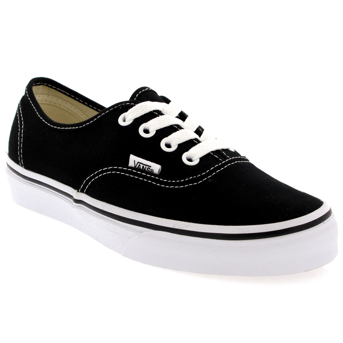 Womens Vans Authentic Canvas Trainers Casual Lace Up ...