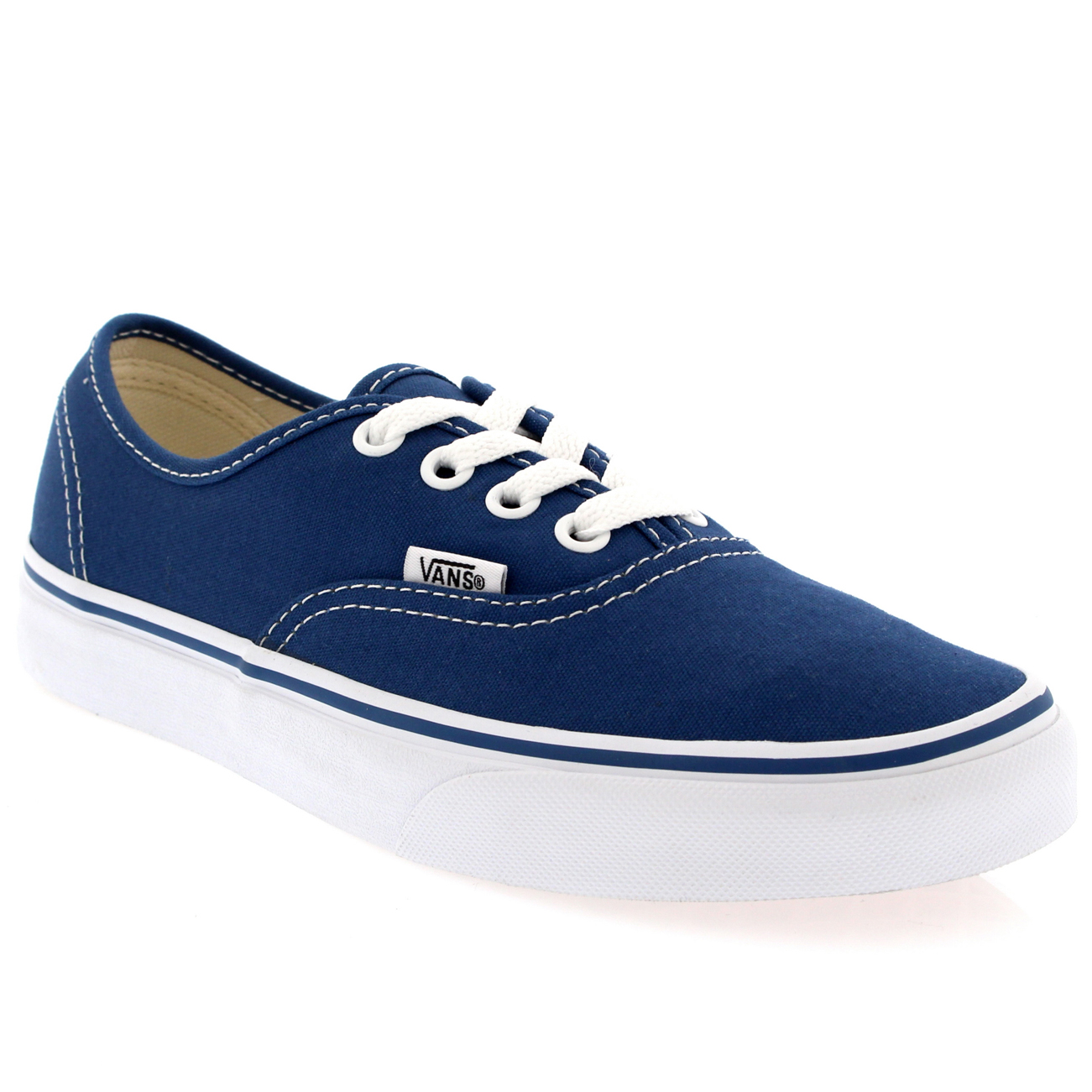 Womens-Vans-Authentic-Canvas-Trainers-Casual-Lace-Up-